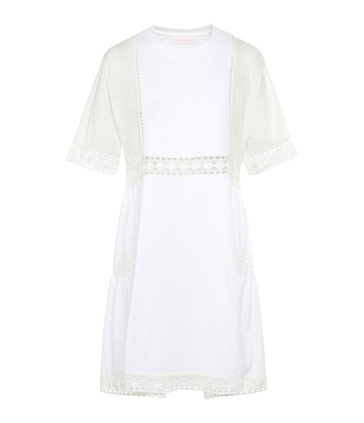 SEE BY CHLOE - Robe Dentelle Blanc