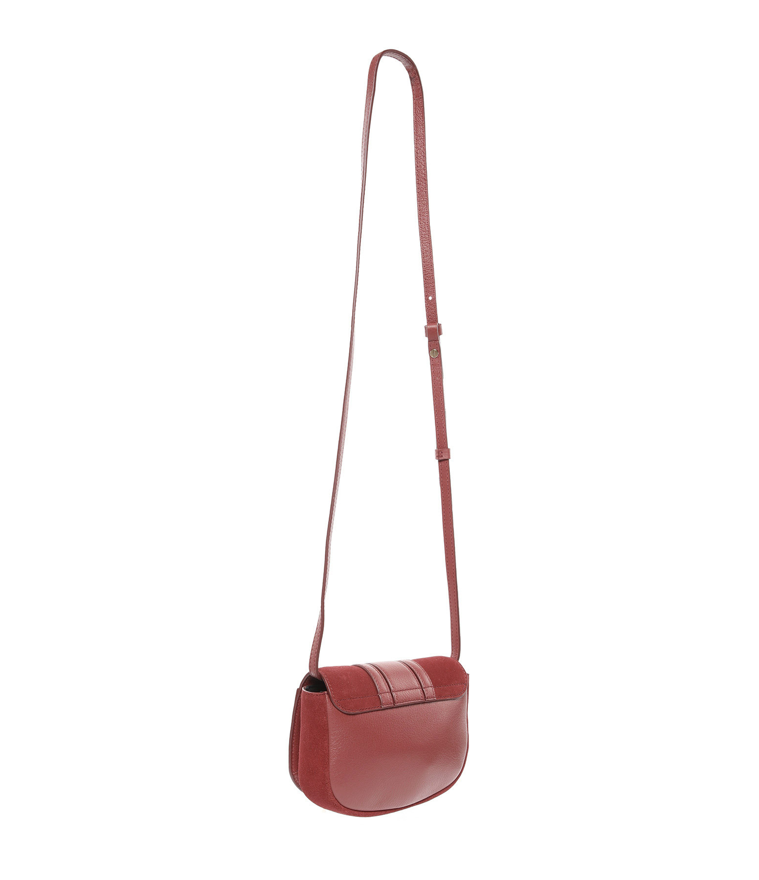 SEE BY CHLOE - Sac Hana Cuir Suédé Faded Red