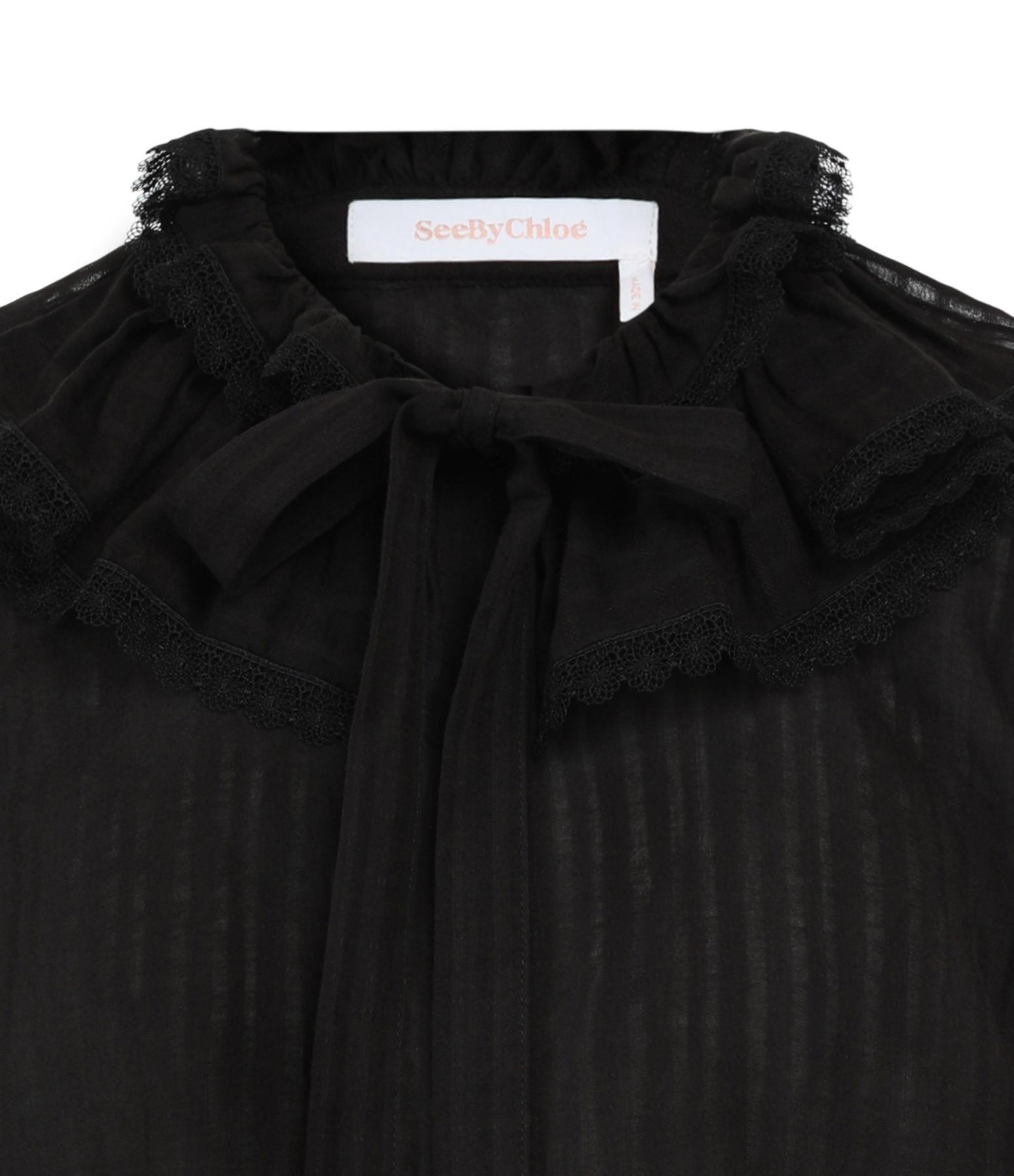 SEE BY CHLOE - Blouse Volants Noir