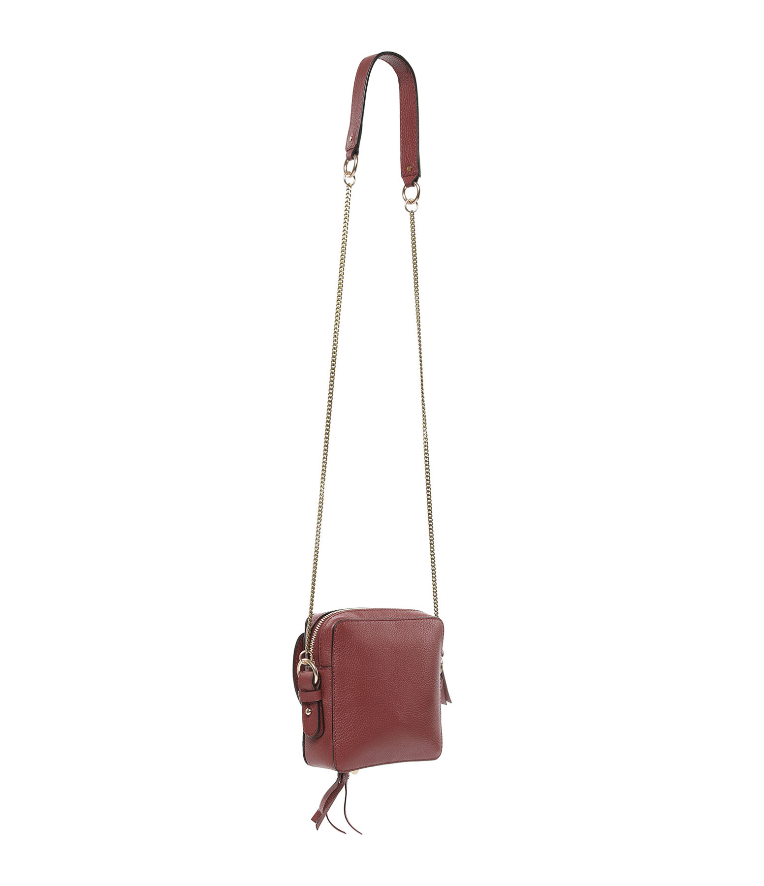 SEE BY CHLOE - Sac Joan Cuir Suédé Faded Red