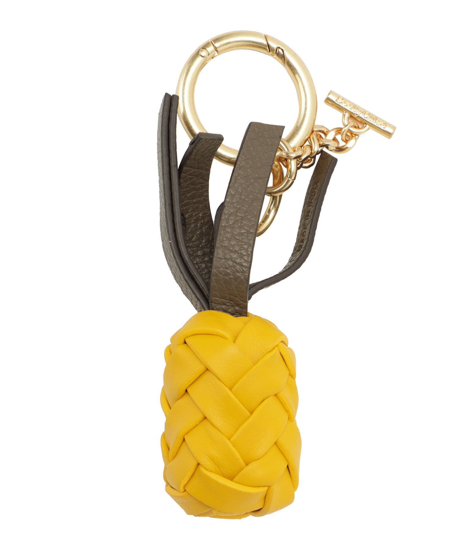 SEE BY CHLOE - Porte-clés Pineapple Cuir Golden Green