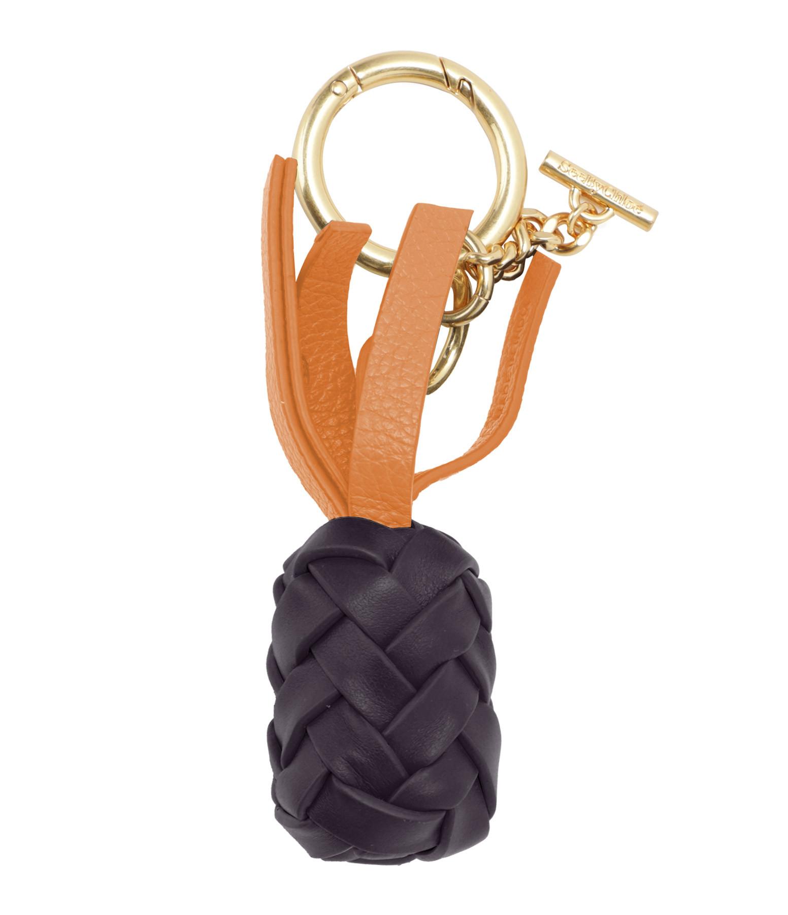 SEE BY CHLOE - Porte-clés Pineapple Cuir Violet Foncé