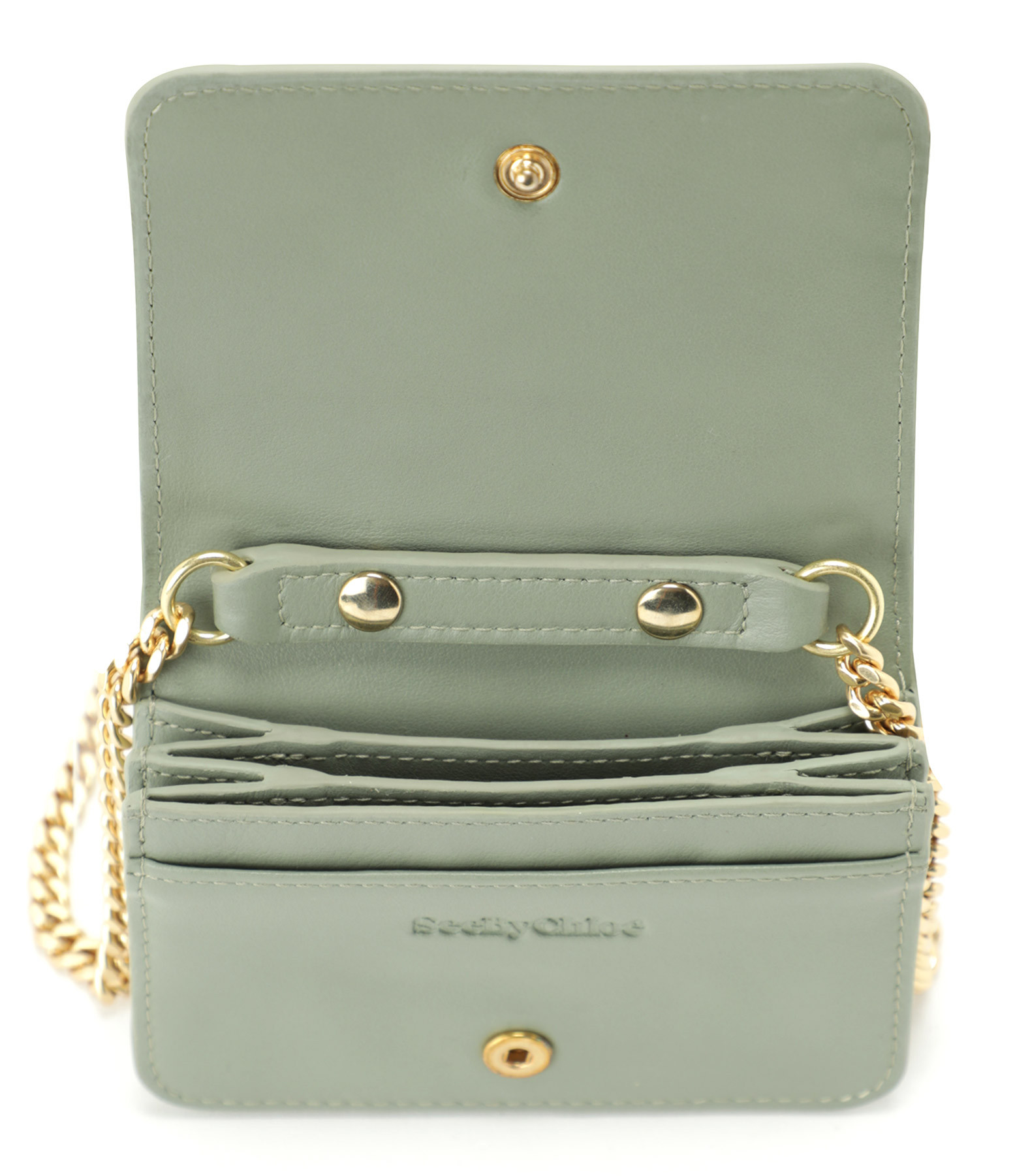 SEE BY CHLOE - Pochette Pineapple Cuir Misty Forest