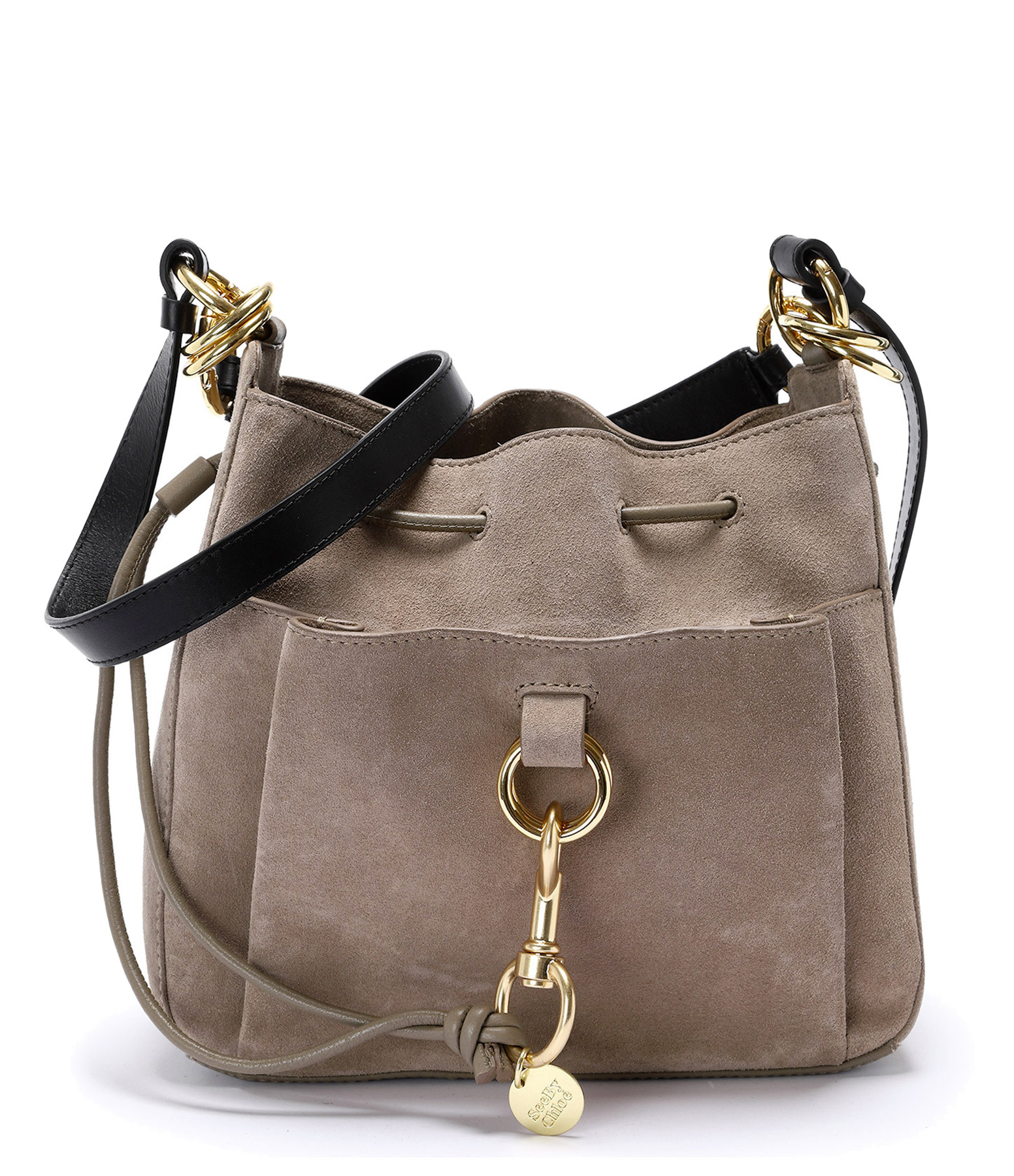 SEE BY CHLOE - Sac Tony MM Cuir Motty Grey