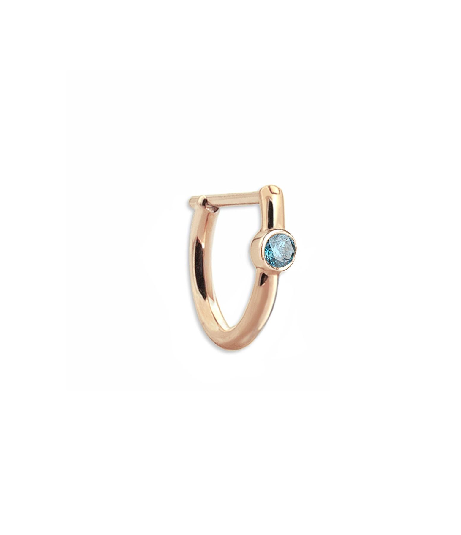 YANNIS SERGAKIS - Créole New Hoop Or Diamant Bleu (vendue à l'unité)