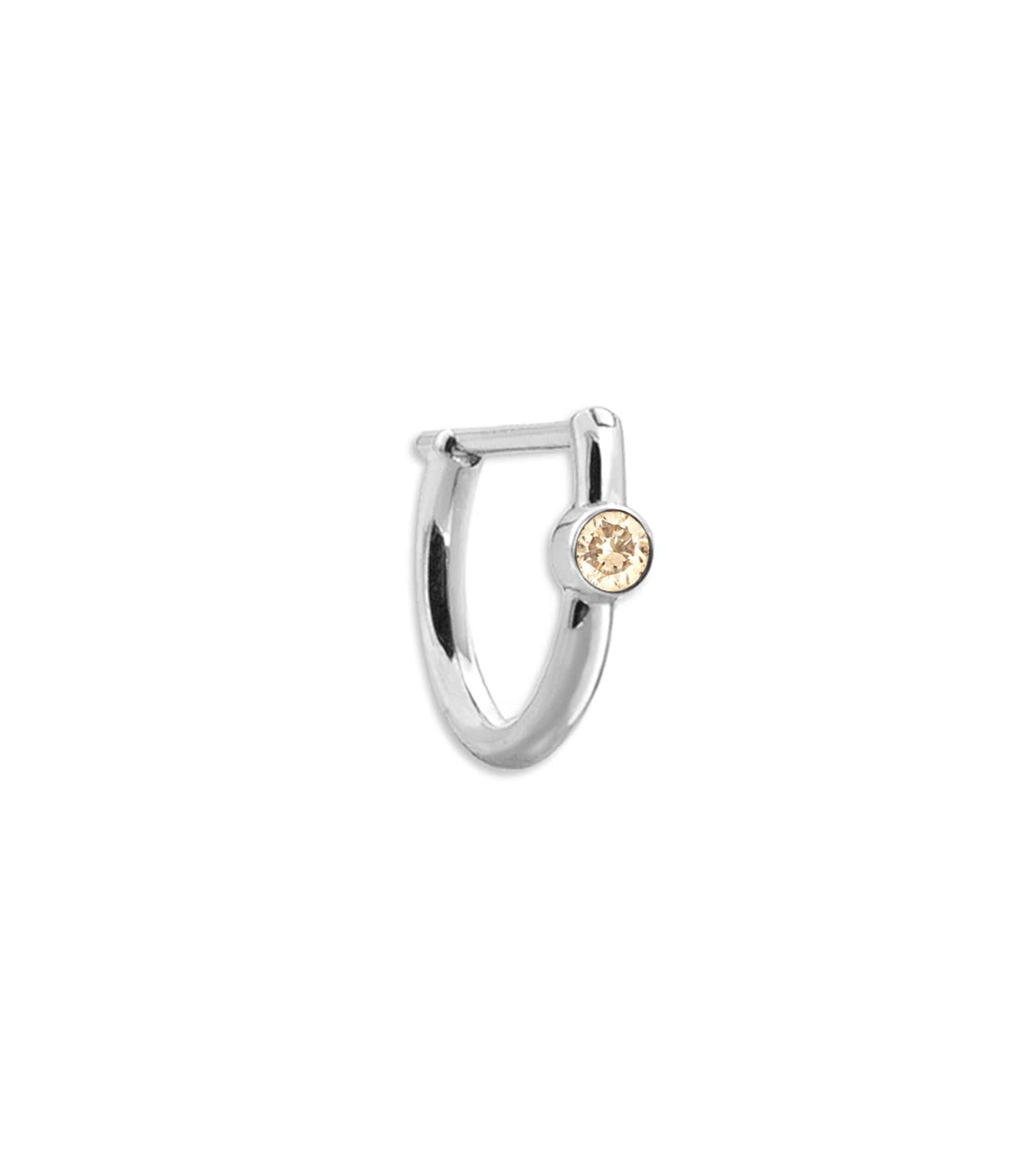 YANNIS SERGAKIS - Créole New Hoop Or Diamant Brun (vendue à l'unité)