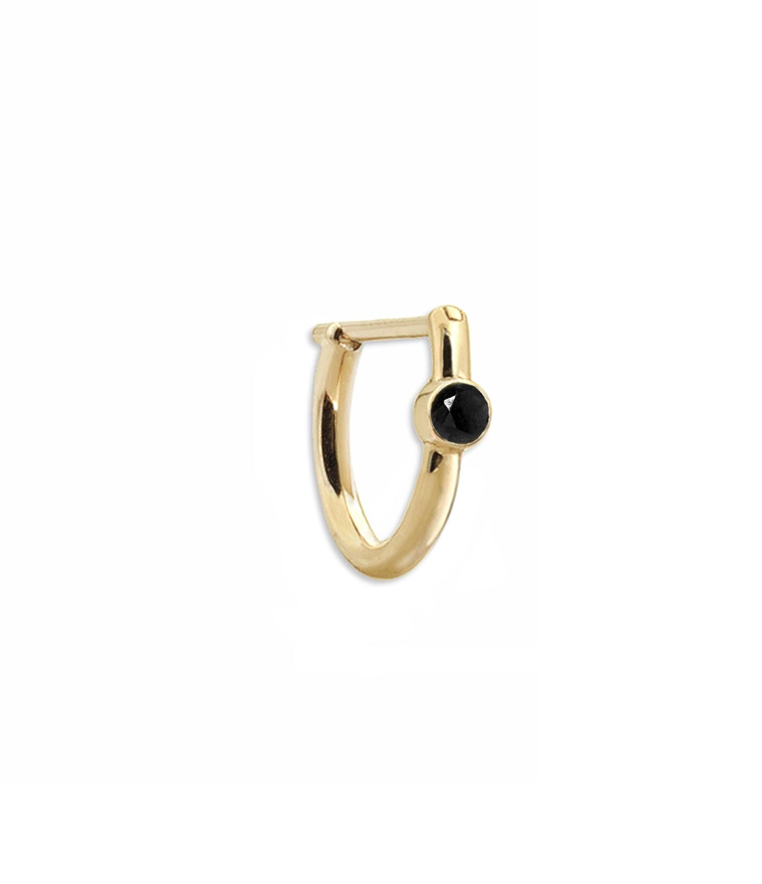 YANNIS SERGAKIS - Créole New Hoop Or Diamant Noir (vendue à l'unité)