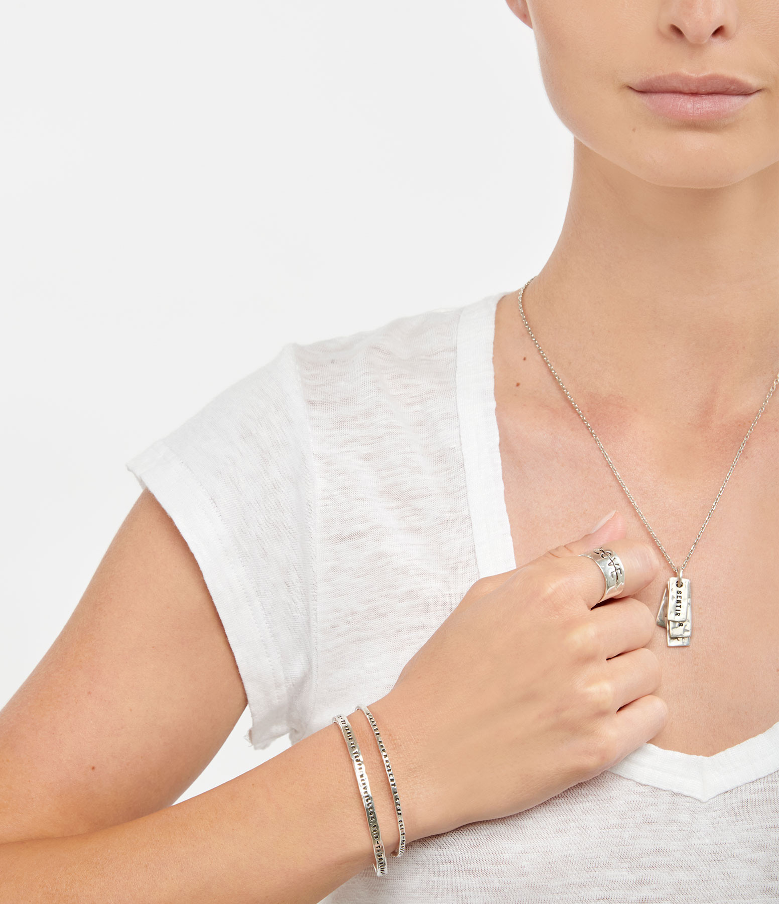 SERGE THORAVAL - Bracelet Bonheur Argent