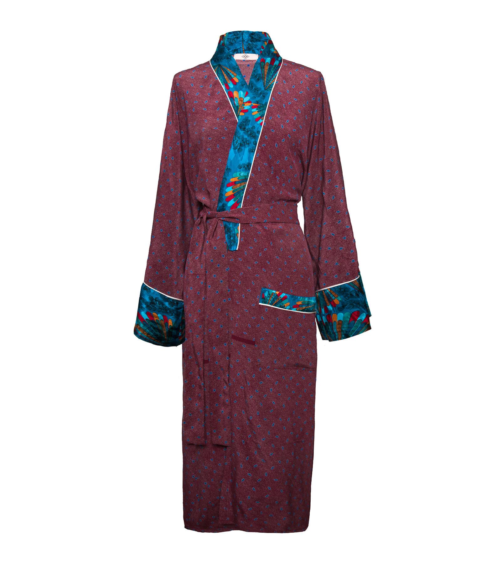 MOW PARIS - Kimono Mademoiselle Soie Imprimé Luno Gildo