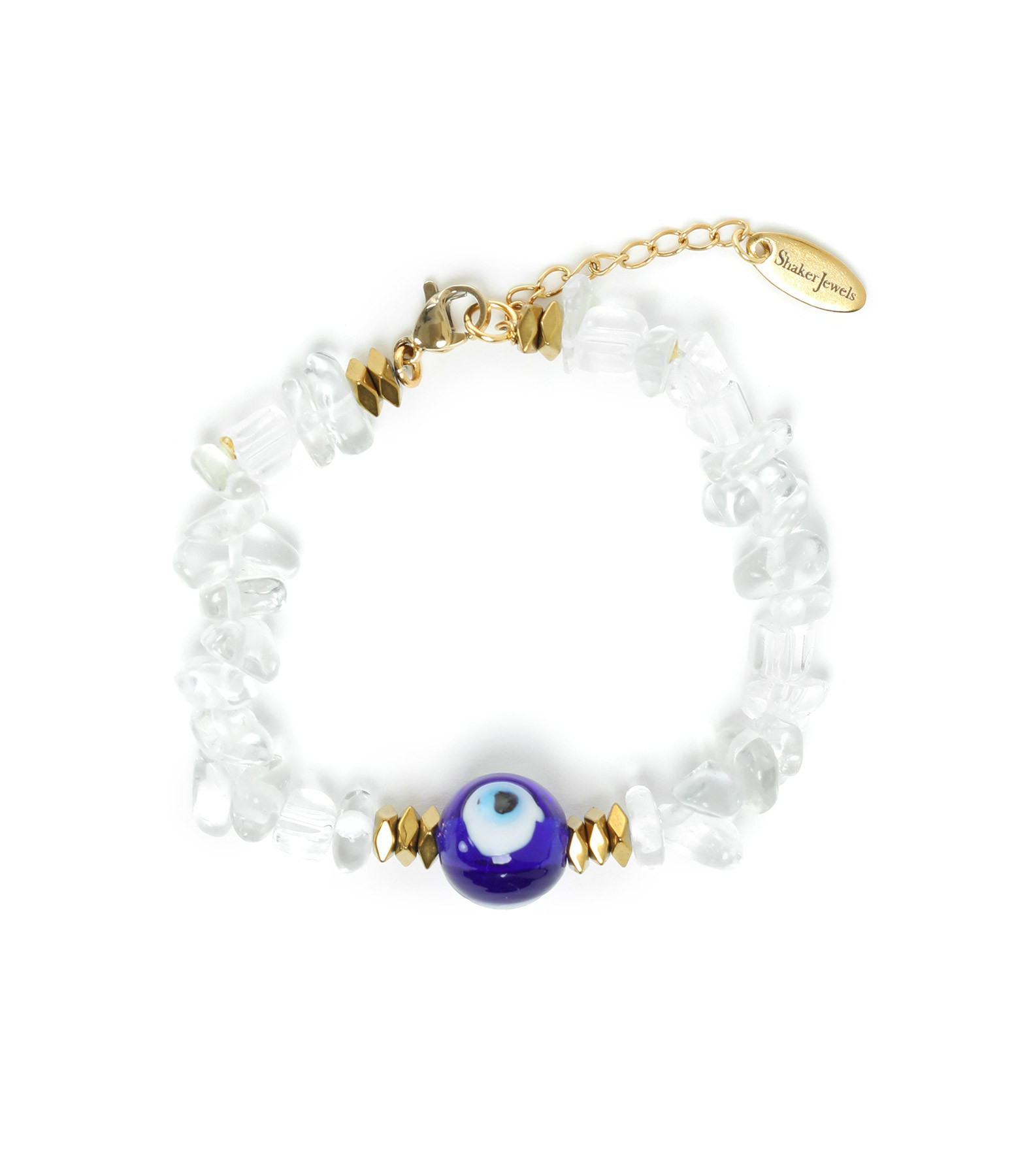 SHAKER JEWELS - Bracelet Eye Pierres Transparentes