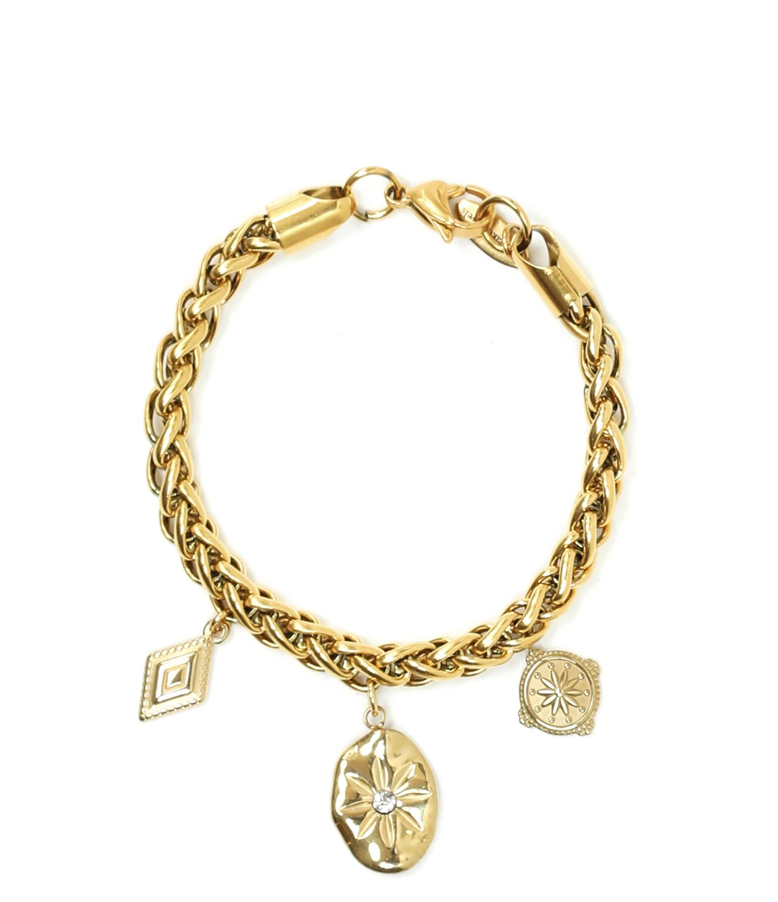 SHAKER JEWELS - Bracelet Palo Charms Plaqué Or
