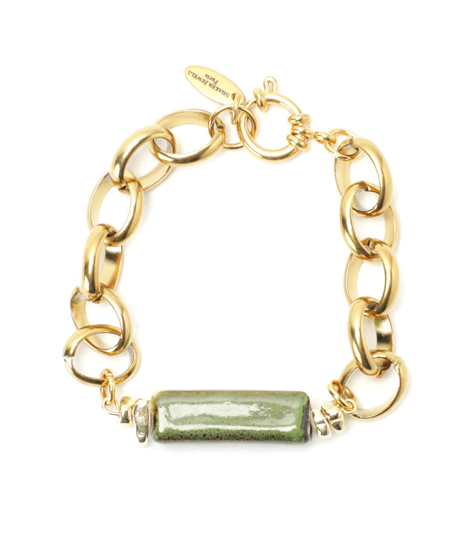 SHAKER JEWELS - Bracelet Laya Pierre Maille Plaqué Or