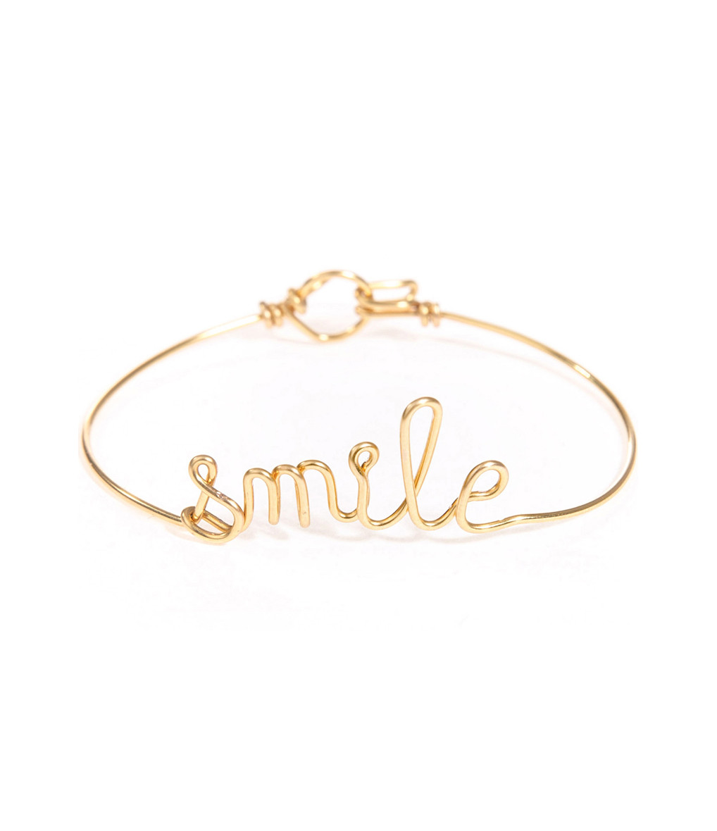 Bracelet Fil Smile Gold Filled - ATELIER PAULIN