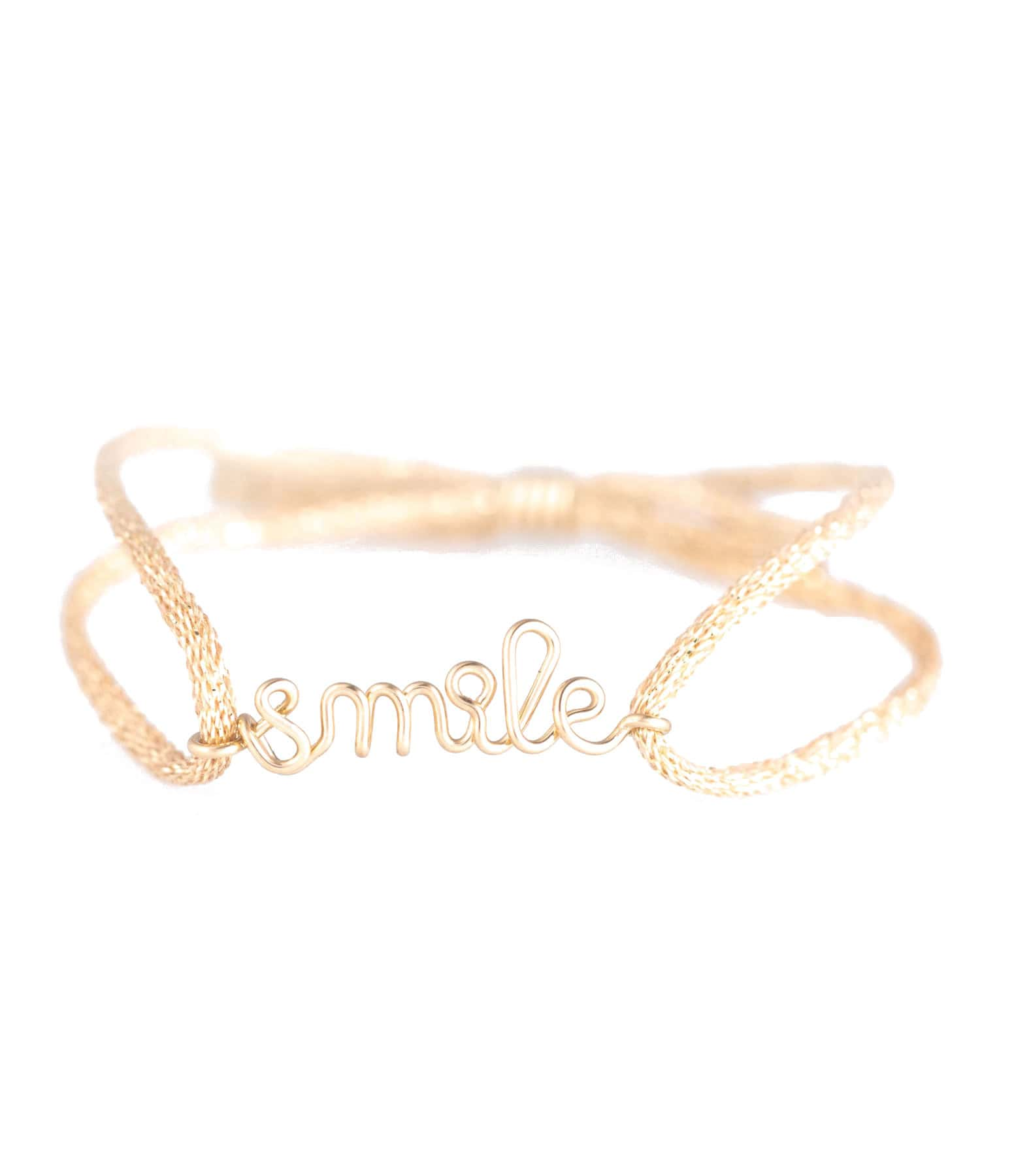 ATELIER PAULIN - Bracelet Cordon Lurex Enfant Smile Gold Filled