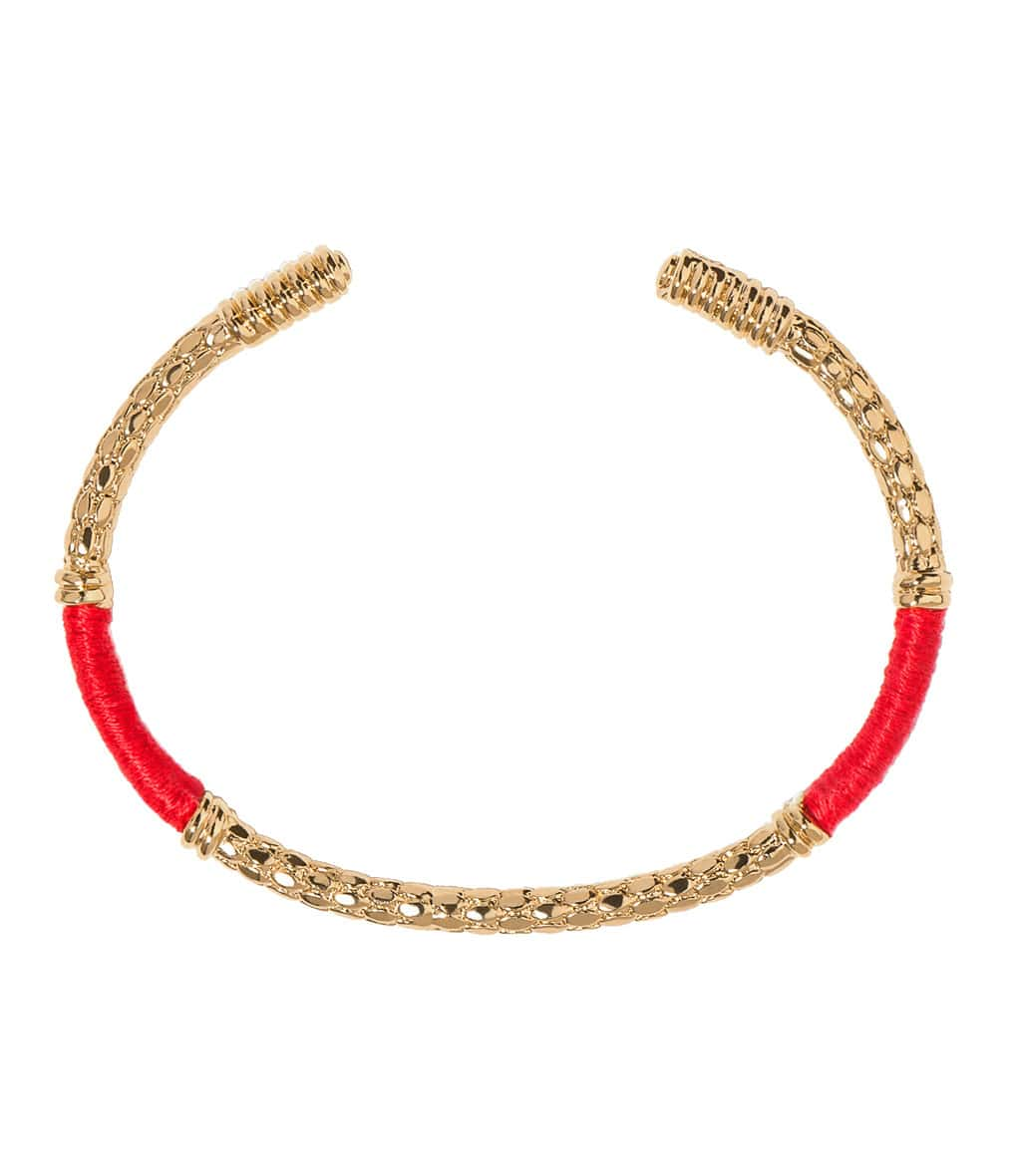 Jonc Soho Gold Rouge Vermillon - AURELIE BIDERMANN