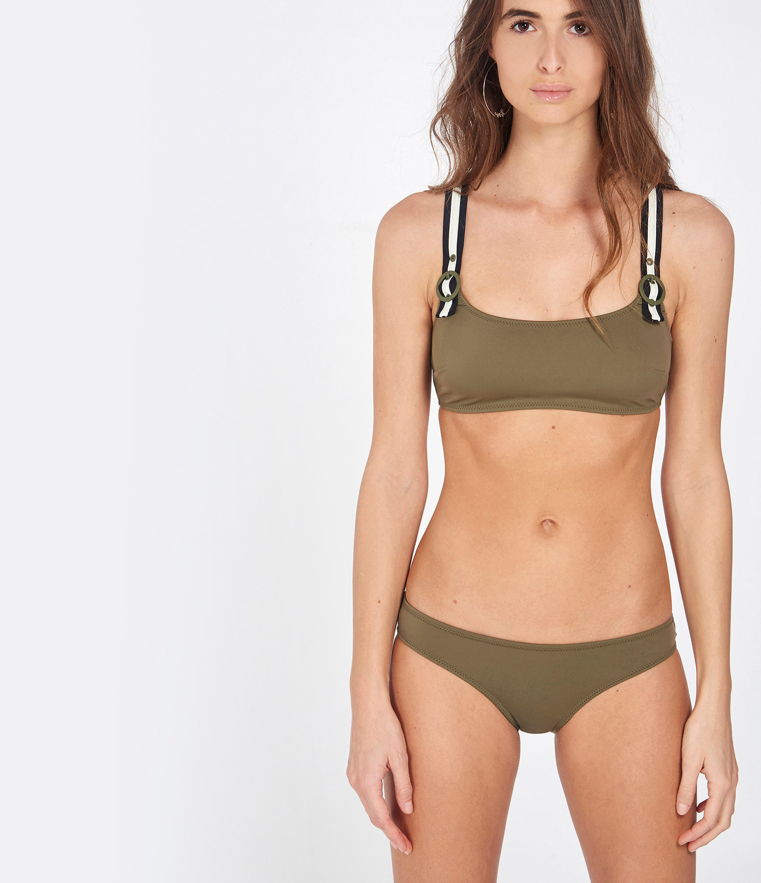 SOLID & STRIPED - Haut de Maillot de Bain The Evelyn Olive