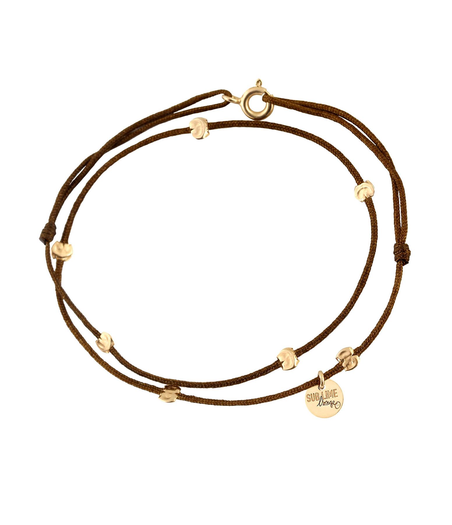 LSONGE - Bracelet Double Cordon Sublime 7 Pépites Or