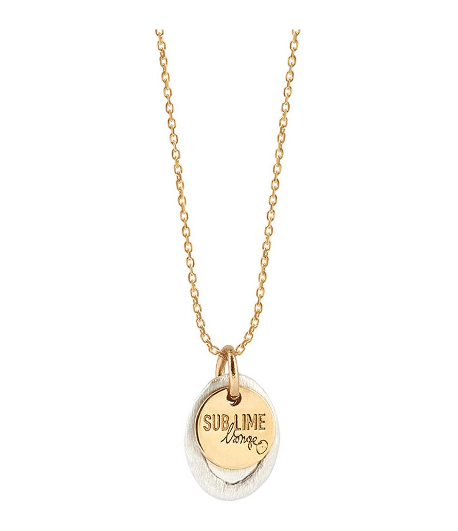 LSONGE - Collier Sublime Médaille XS Argent Or