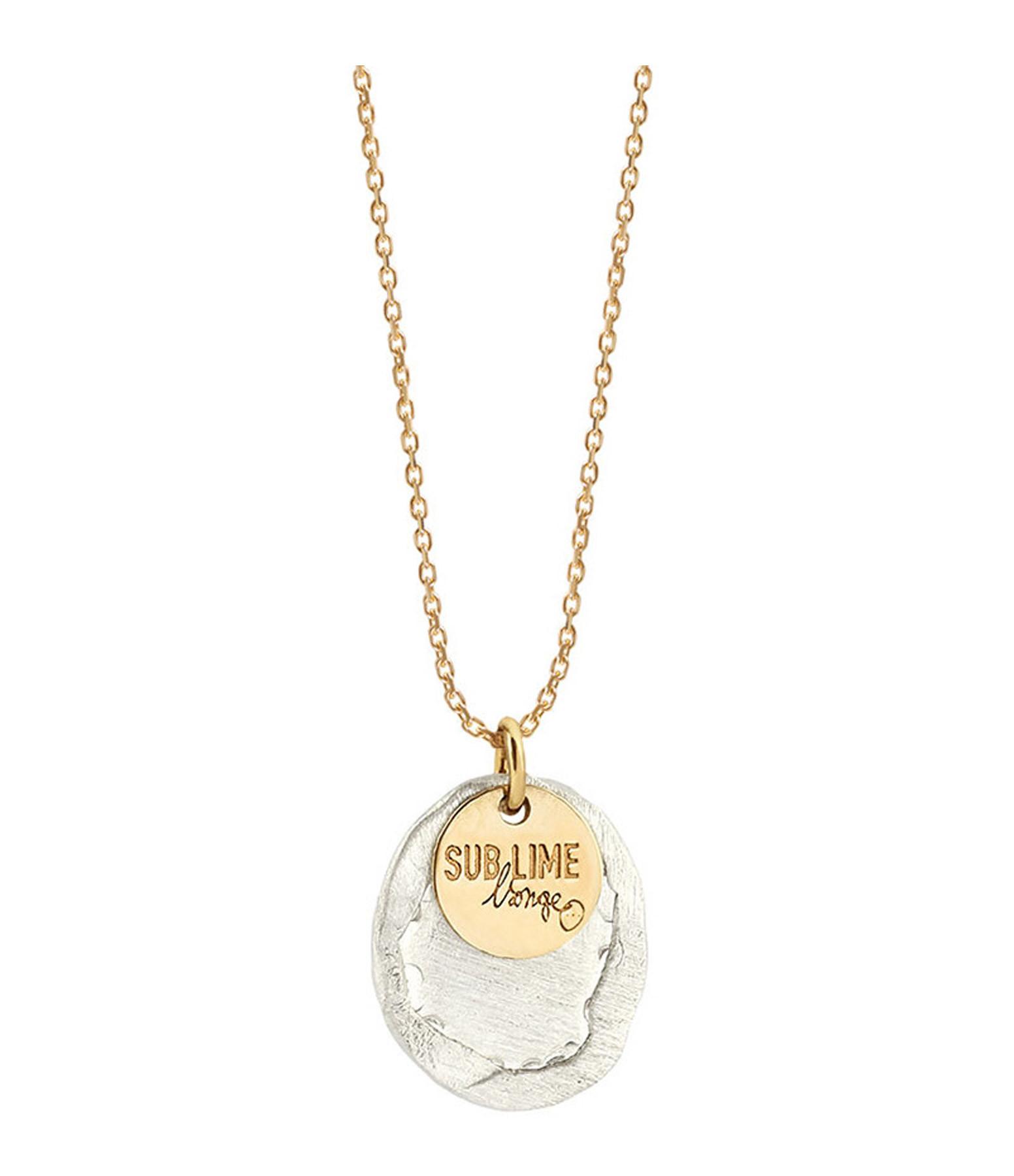 LSONGE - Collier Sublime Médaille M Argent Or