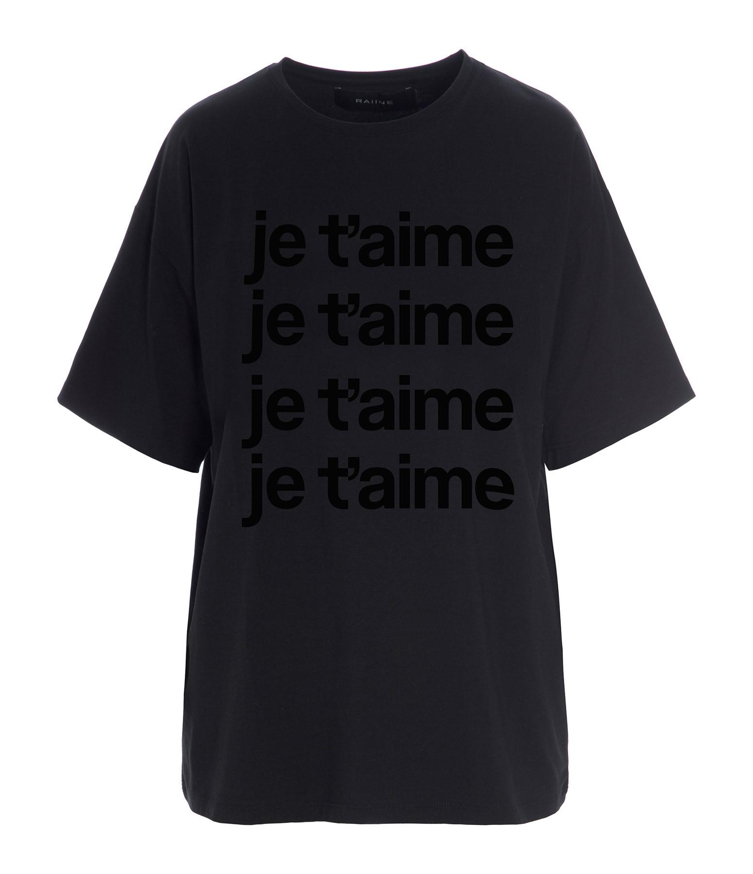 RAIINE - Tee-shirt Castor Coton Noir