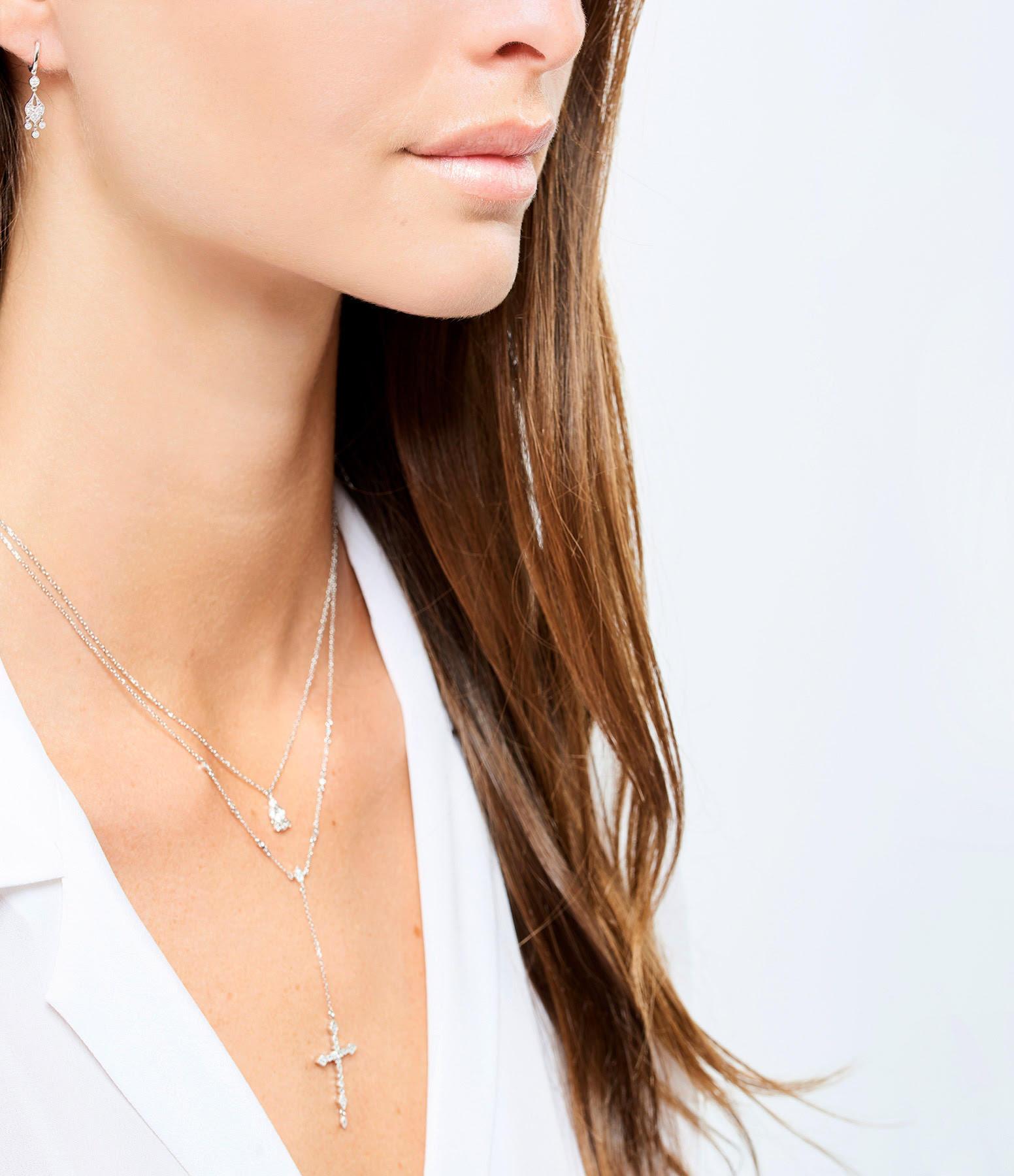 STONE PARIS - Mini Créole Sultane Or Diamants (vendue à l'unité)