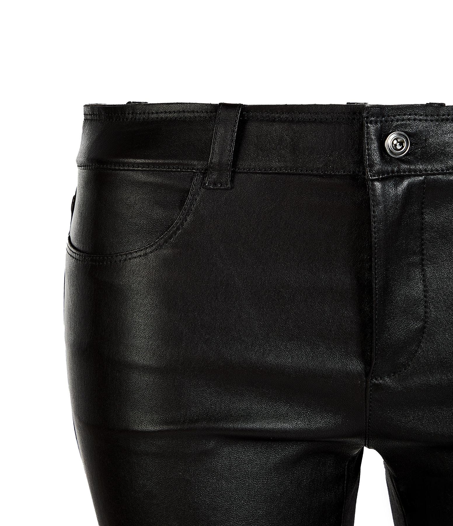 STOULS - Pantalon Dean  Agneau Plongé Regular Noir