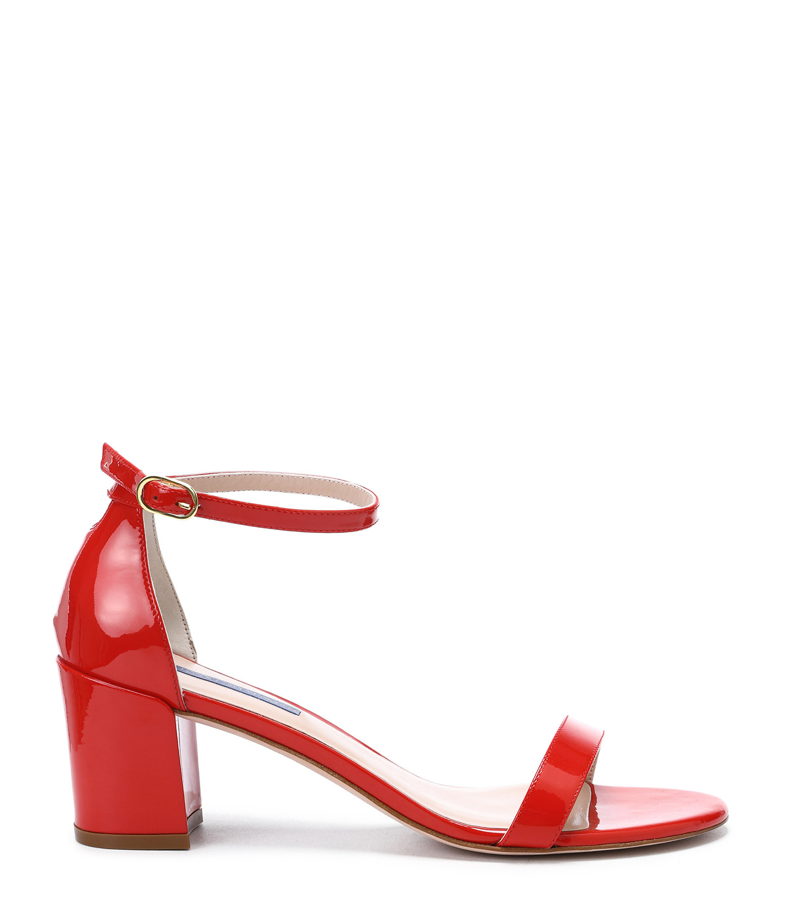 STUART WEITZMAN - Sandales Simple Rouge Verni