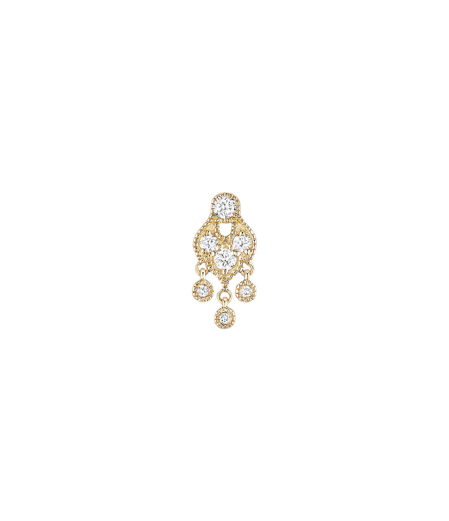 STONE PARIS - Boucle d'oreille Bouton Sultane Or Diamants (vendue à l'unité)