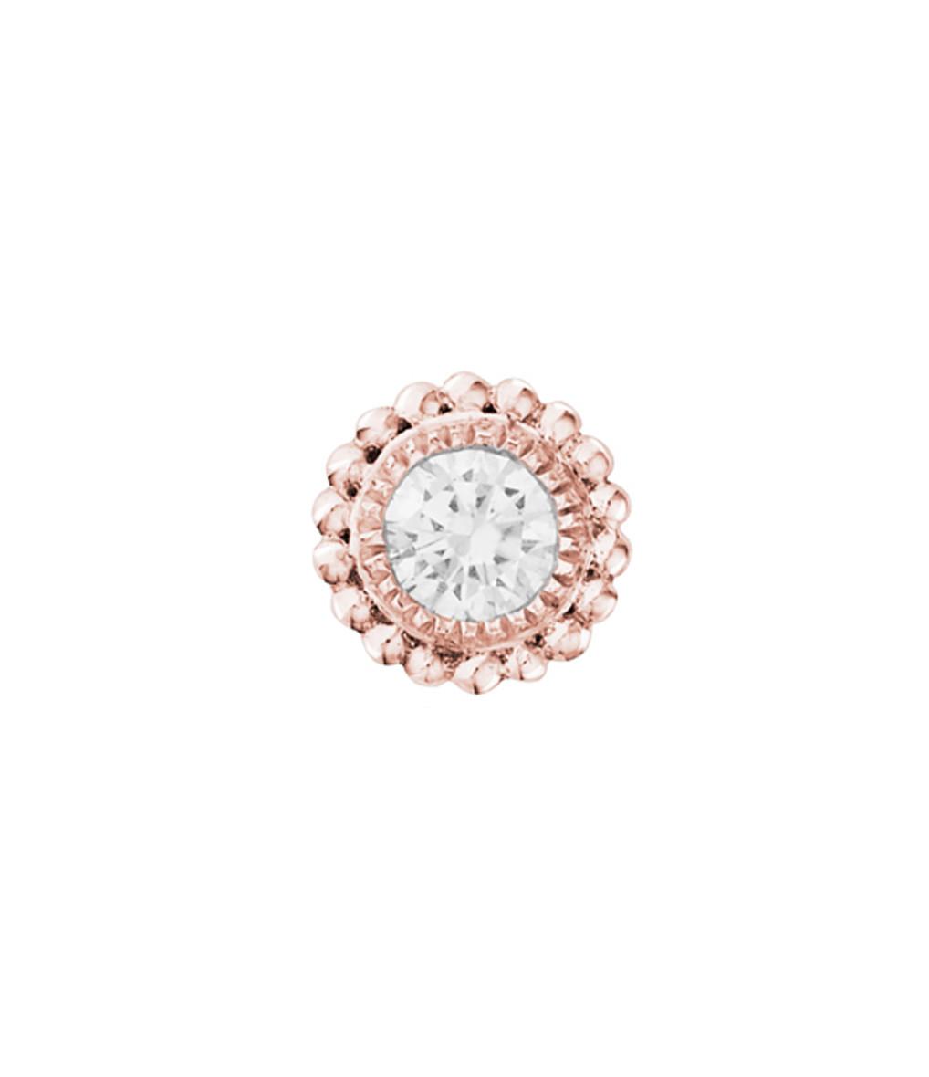 Boucle d'oreille Bouton Swan Diamants (vendue à l'unité) - STONE