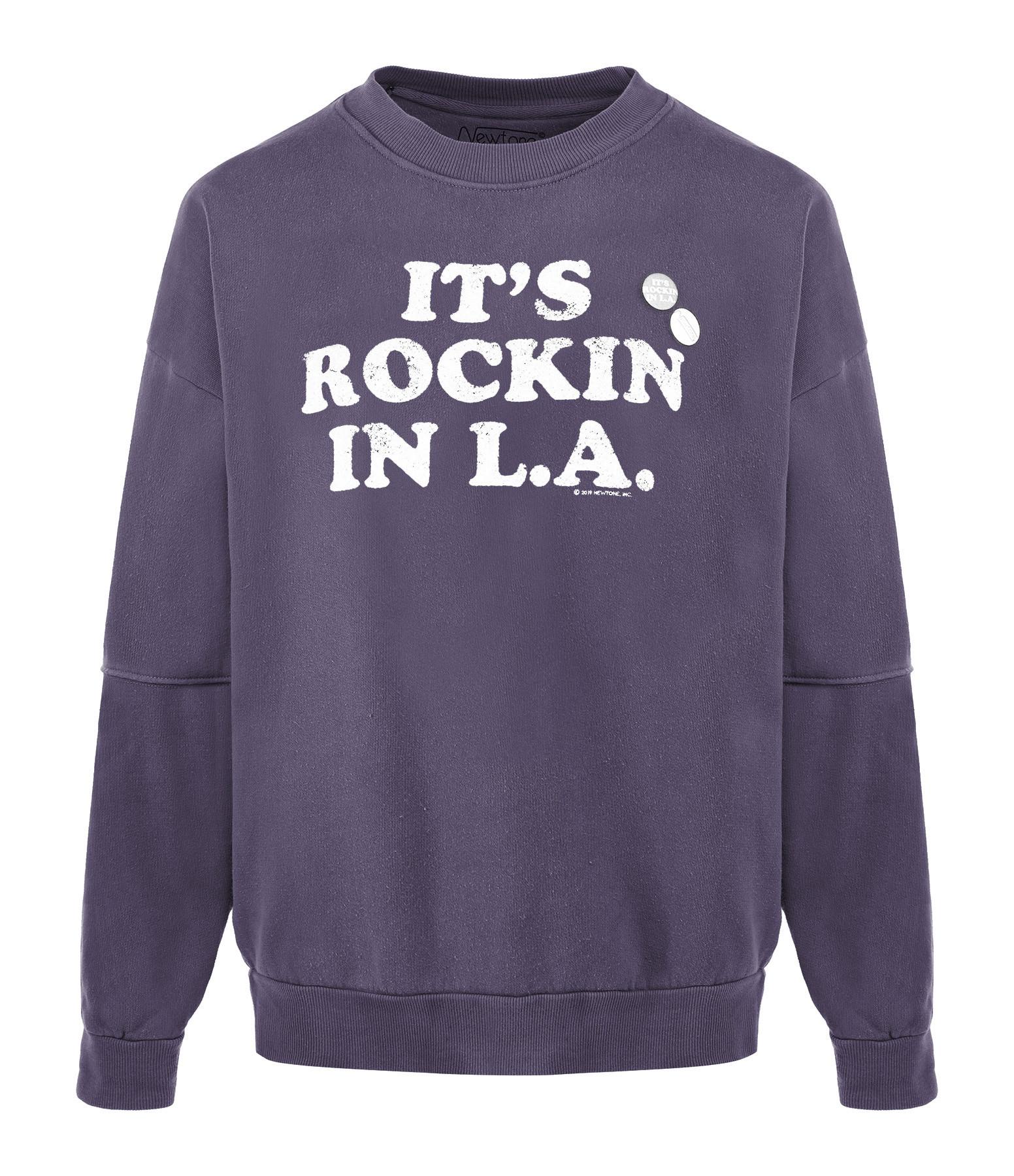 NEWTONE - Sweatshirt Roller Rockin Coton Violet Grappe