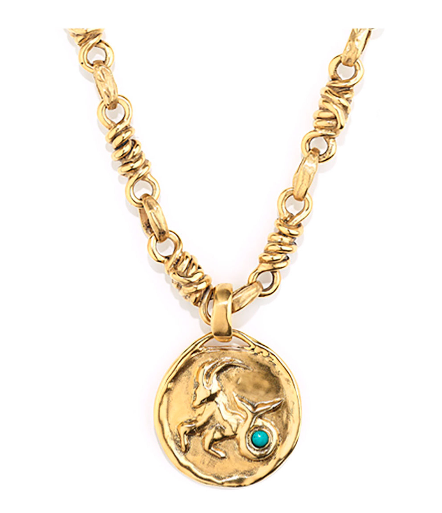 GOOSSENS - Collier Talisman Astro Capricorne Turquoise