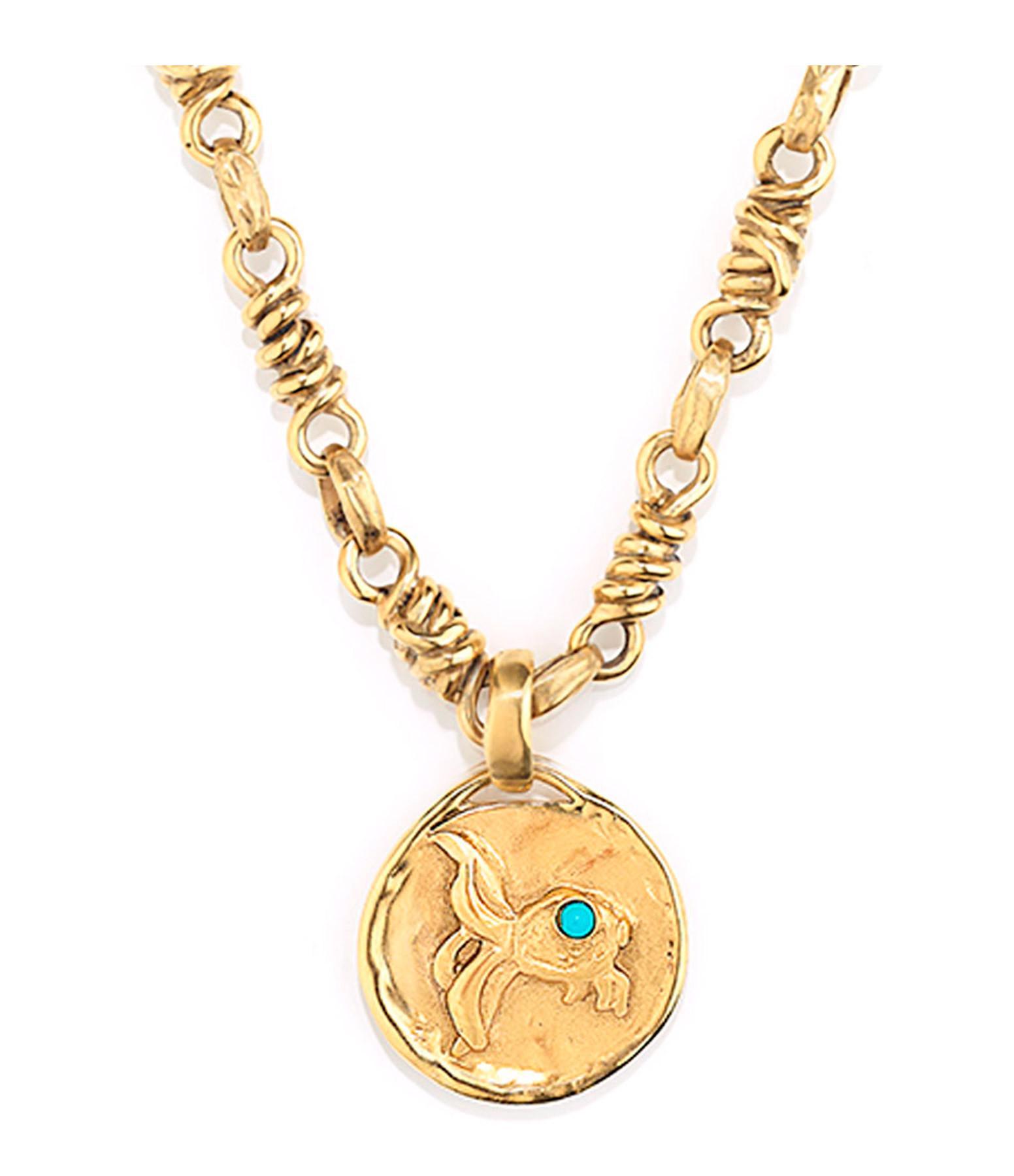 GOOSSENS - Collier Talisman Astro Poisson Turquoise