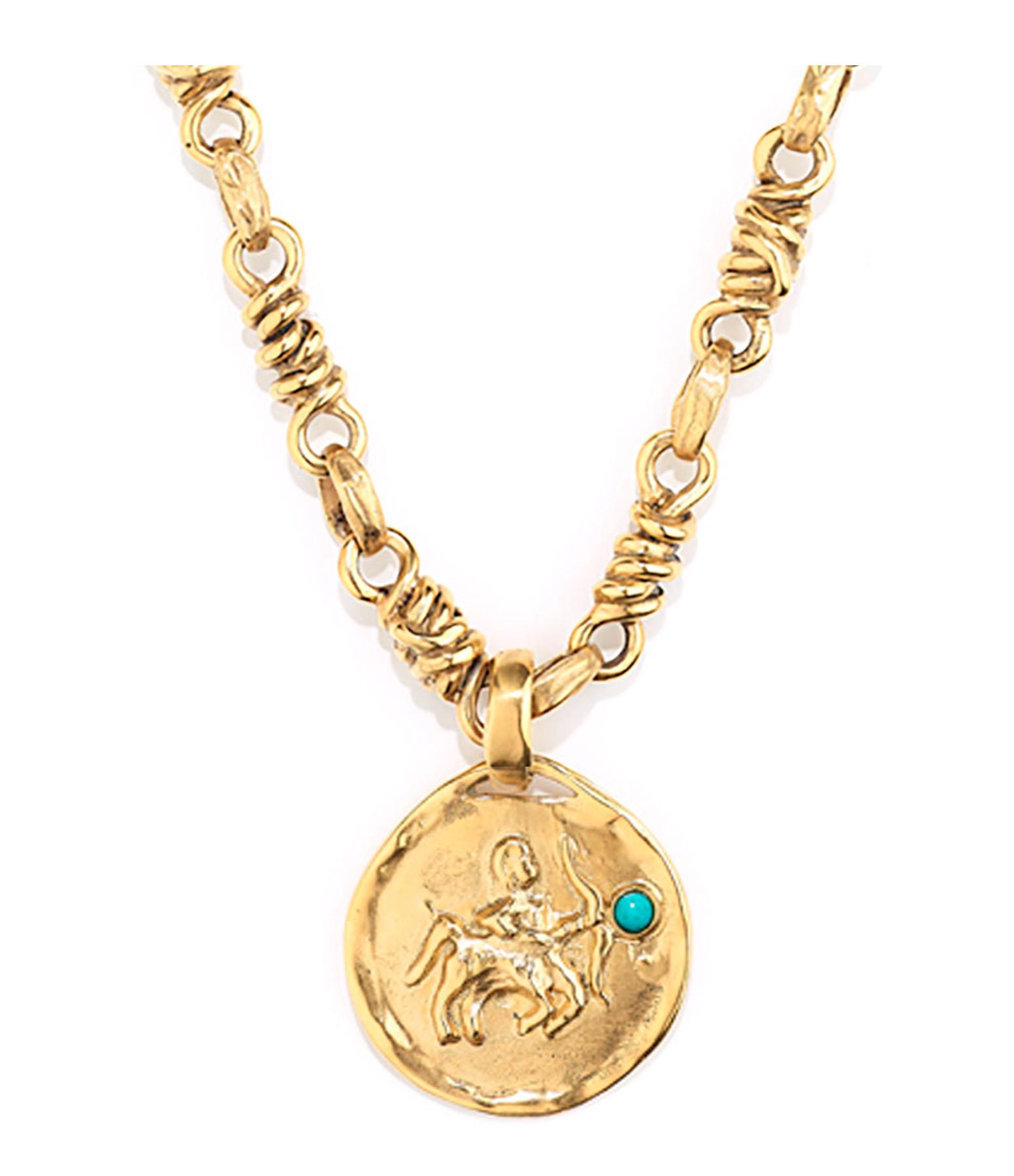 GOOSSENS - Collier Talisman Astro Sagittaire Turquoise