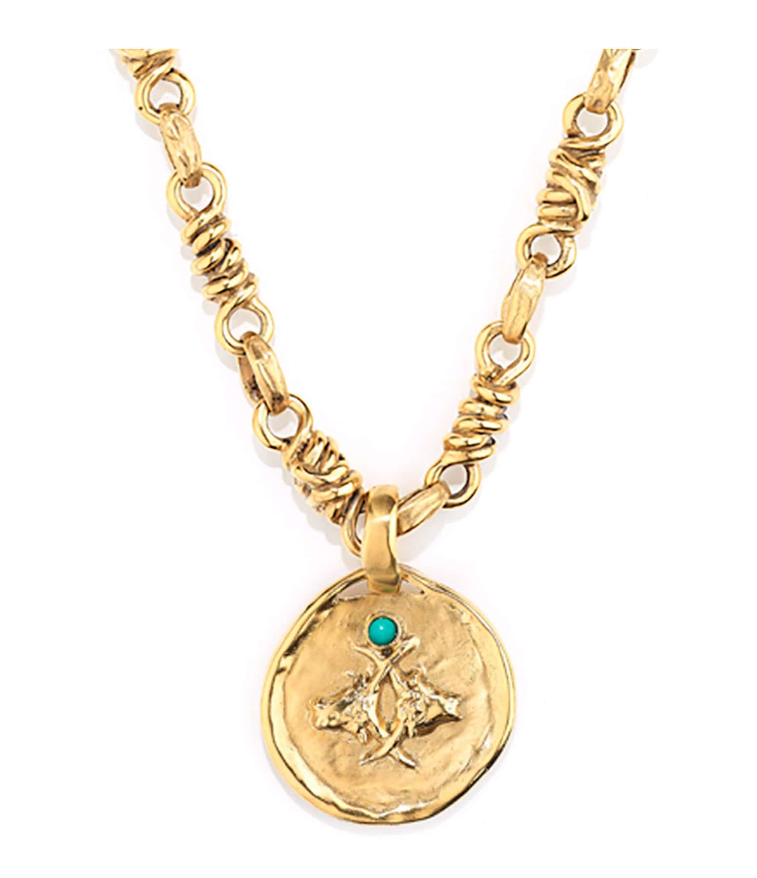 GOOSSENS - Collier Talisman Astro Taureau Turquoise