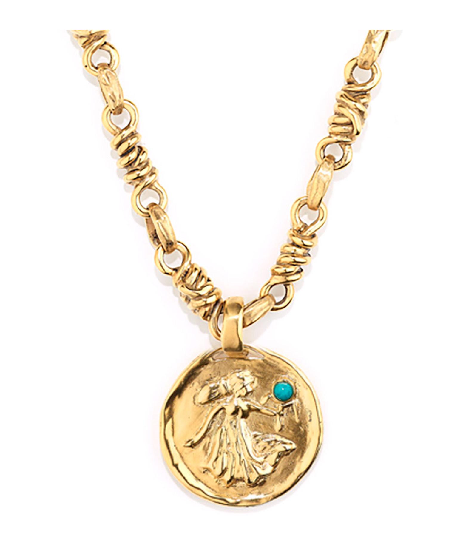 GOOSSENS - Collier Talisman Astro Vierge Turquoise
