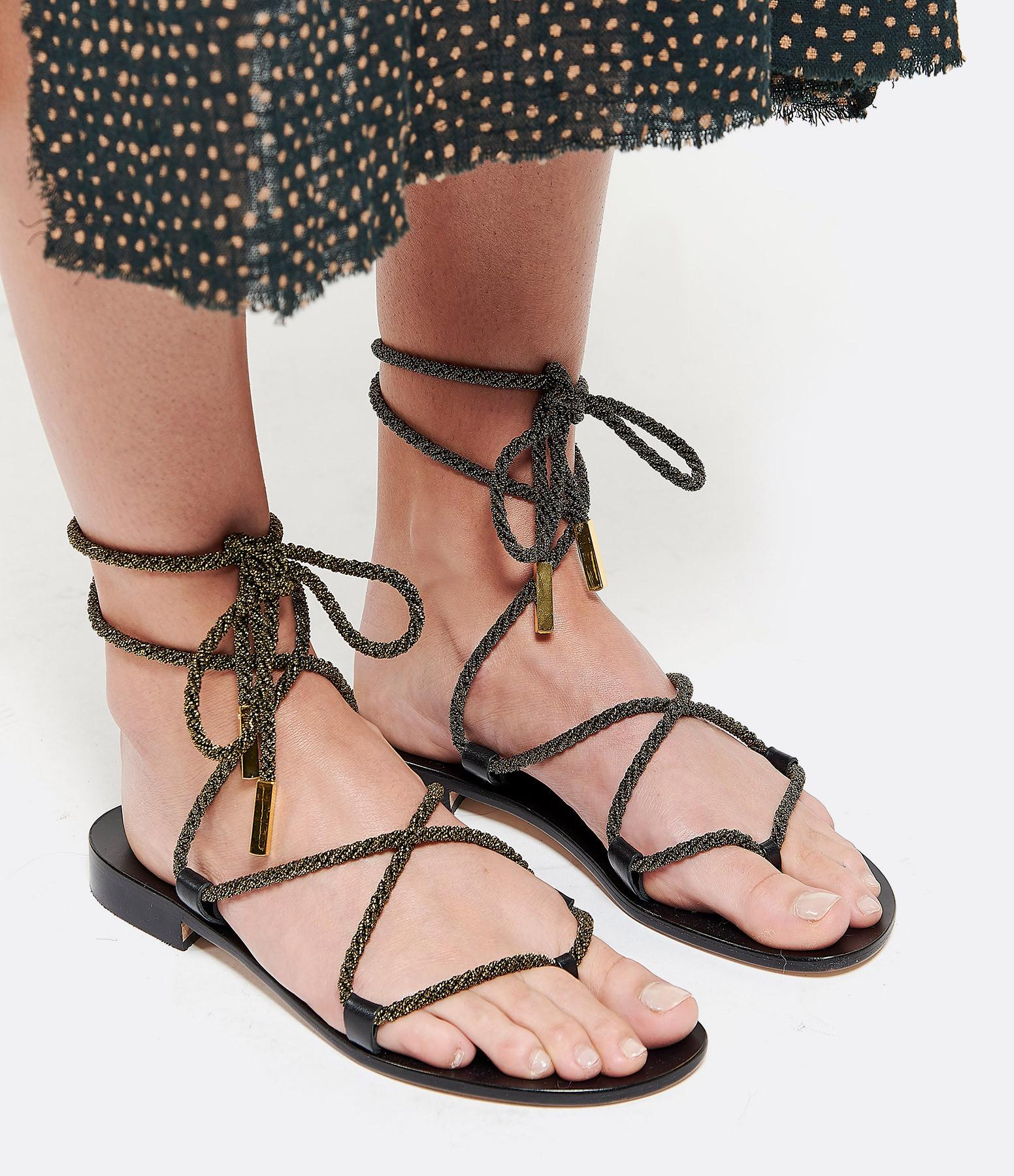 TARAH BLANCHE - Cordes Sandales Bronze
