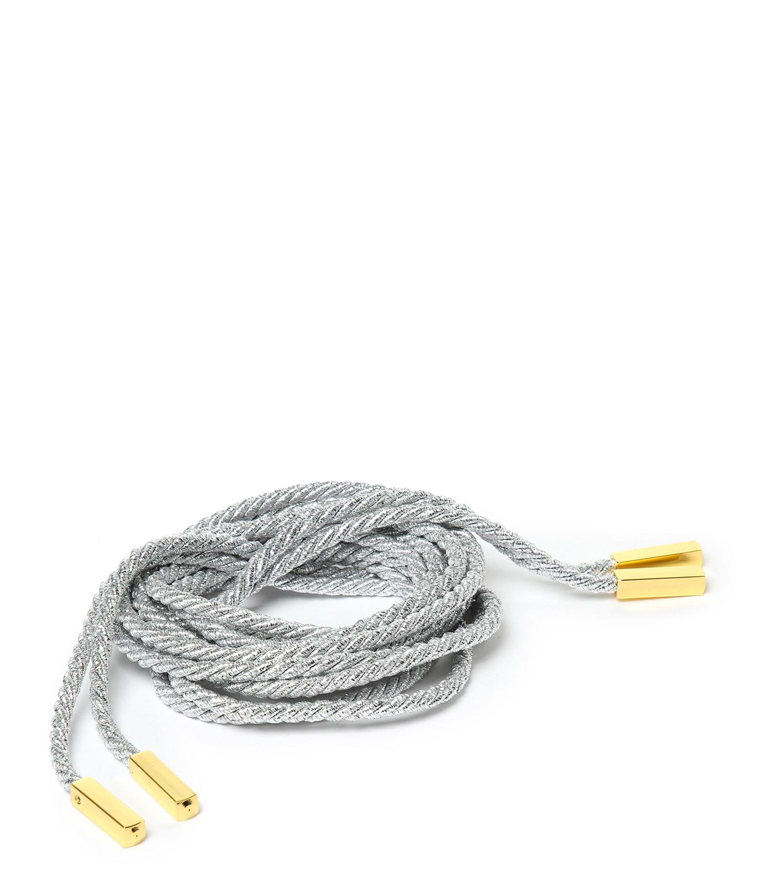 TARAH BLANCHE - Cordes Sandales Lurex Argent