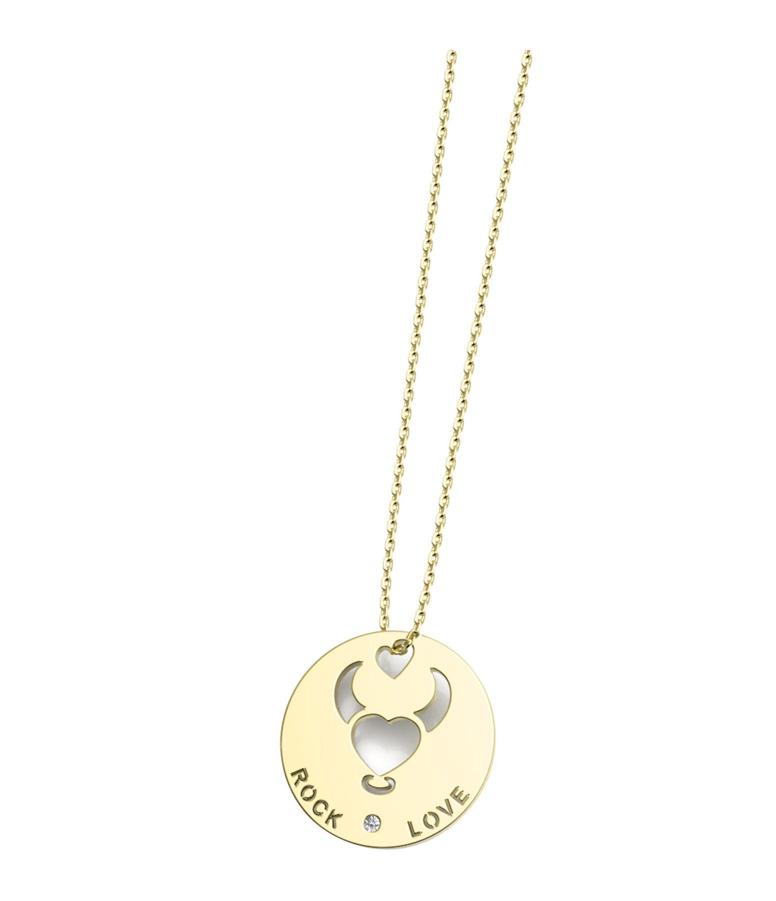 NAVA JOAILLERIE - Collier Horosco-Rock Taureau Diamants Or