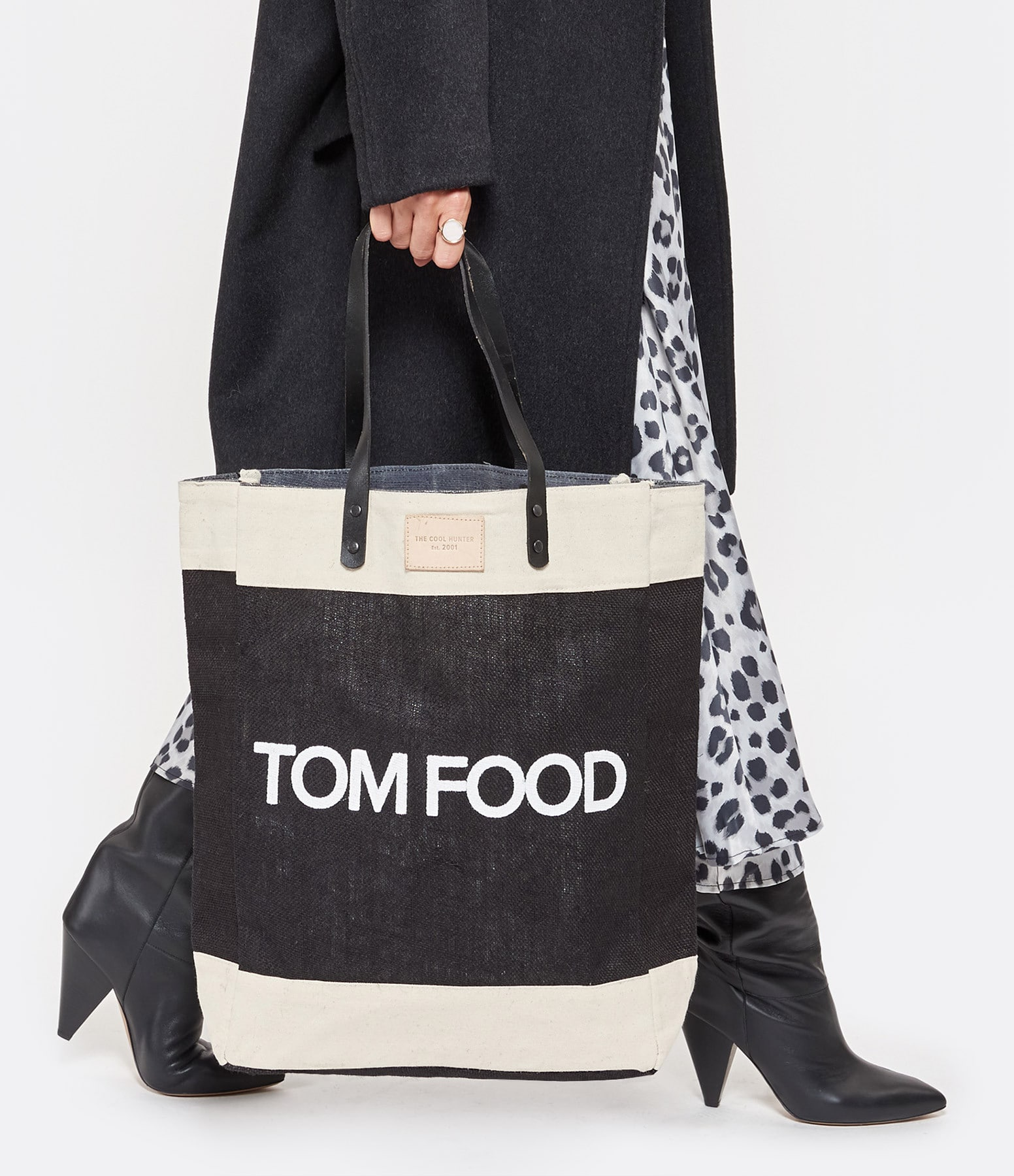 THE COOL HUNTER - Cabas Toile de Jute TOM FOOD