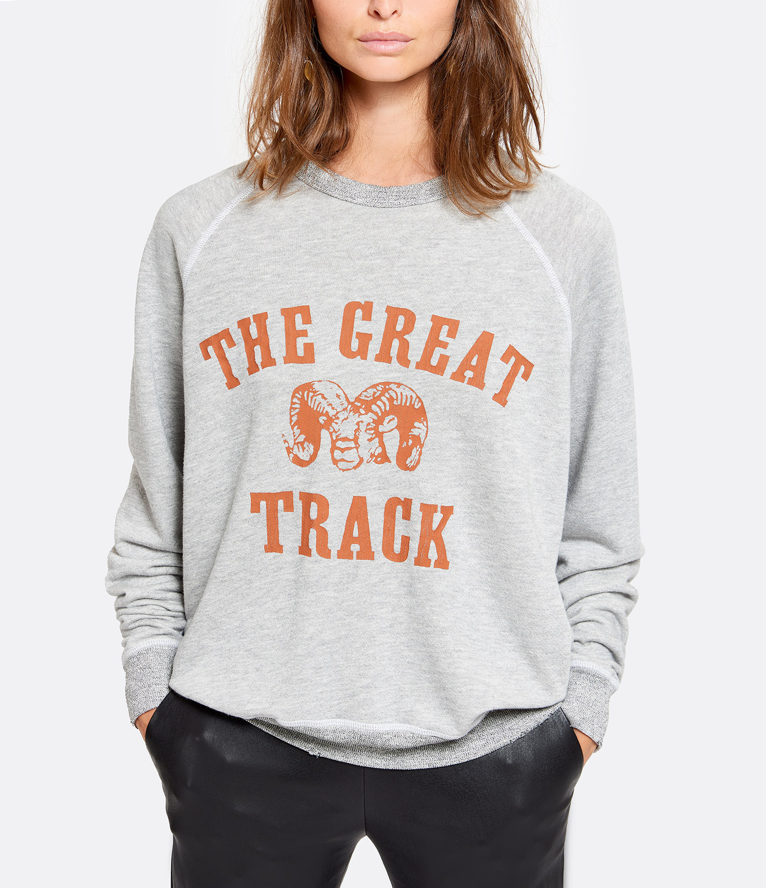 THE GREAT - Sweatshirt The College Coton Gris