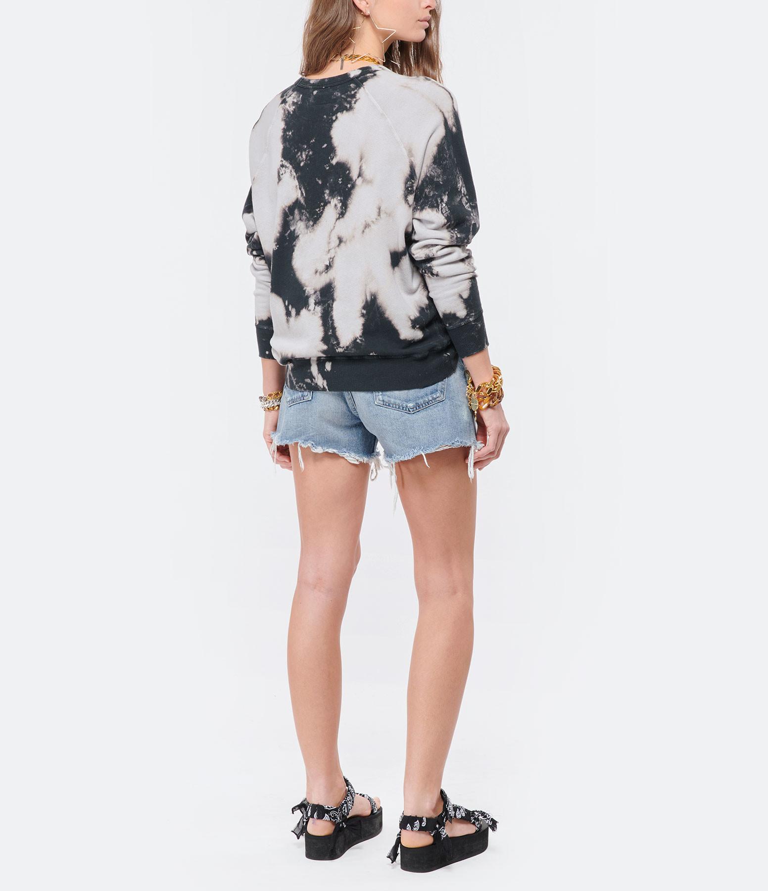 THE GREAT - Sweatshirt The College Coton Noir Délavé