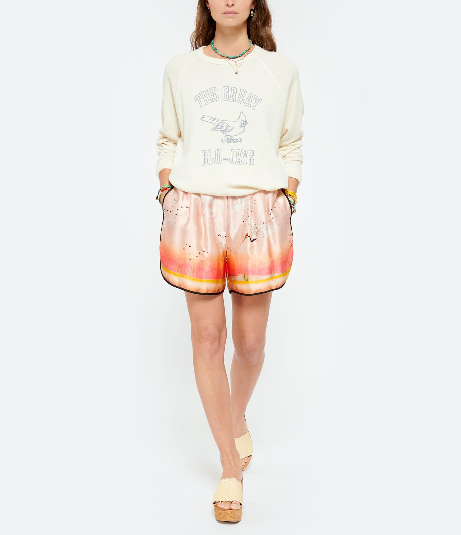 THE GREAT - Sweatshirt The College Coton Blanc Délavé