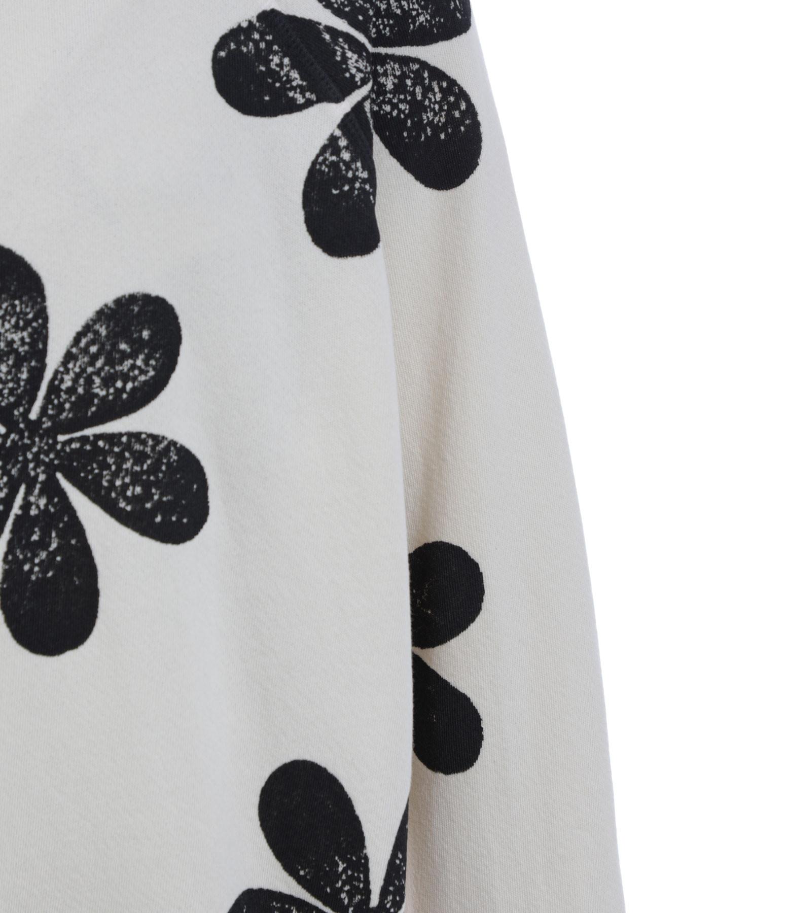 THE GREAT - Sweatshirt The Slouch Coton Blanc Délavé