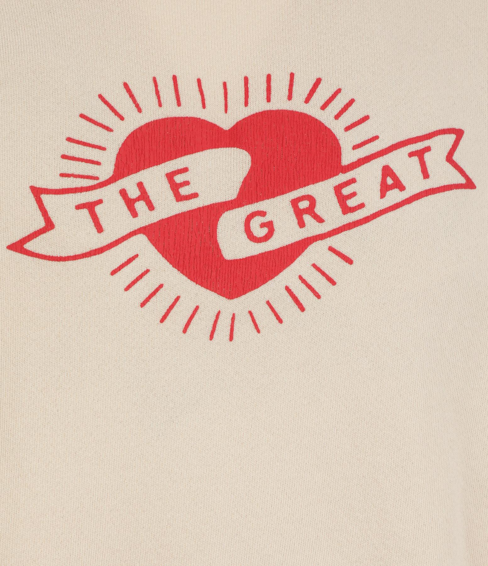 THE GREAT - Sweatshirt The Shrunken Coton Rose