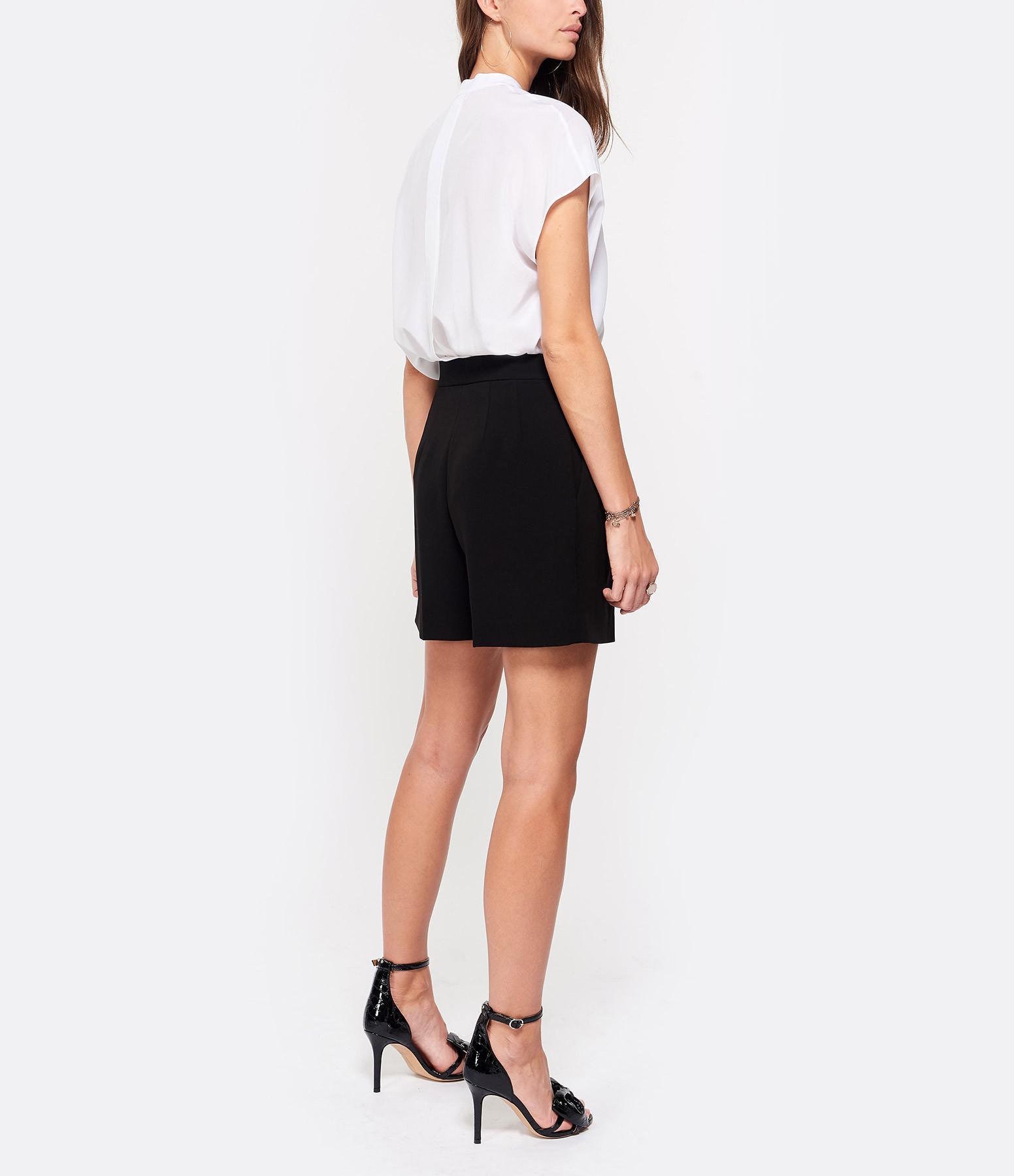 THEORY - Short Taille Haute Crèpe Noir