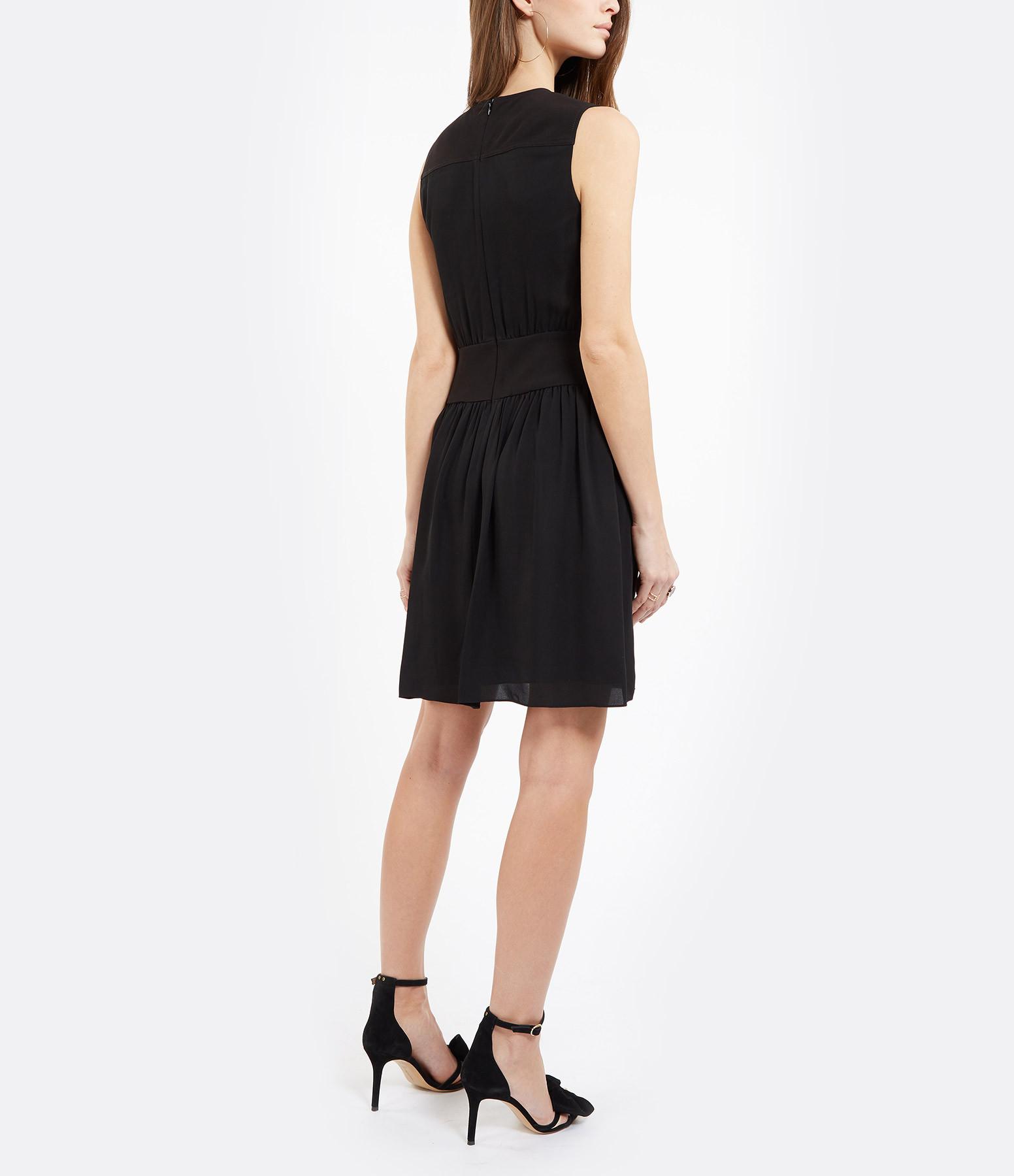 THEORY - Robe Classique Soie Noir