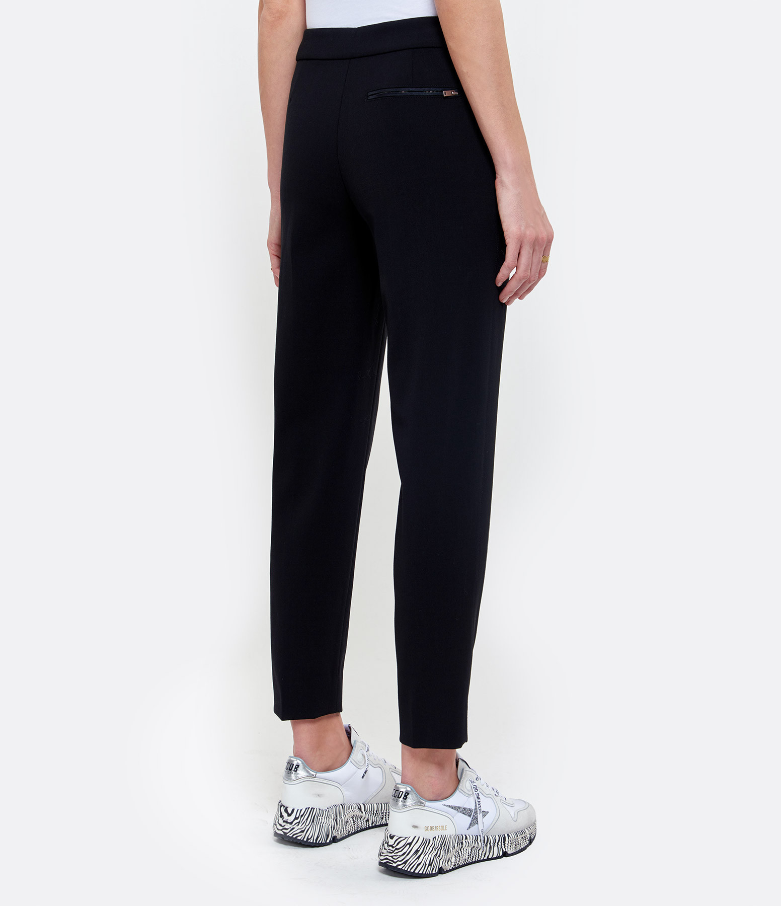 THEORY - Pantalon Carotte Laine Noir