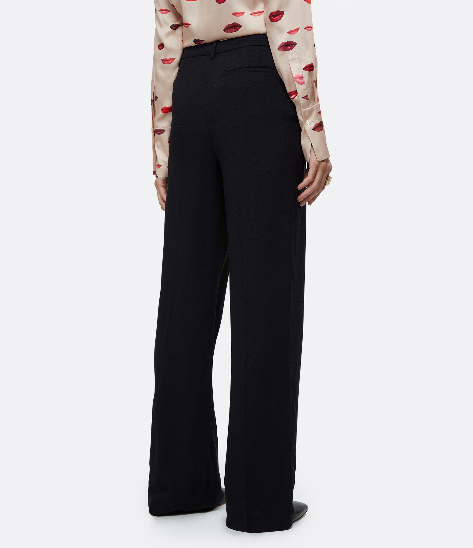 THEORY - Pantalon Large Noir