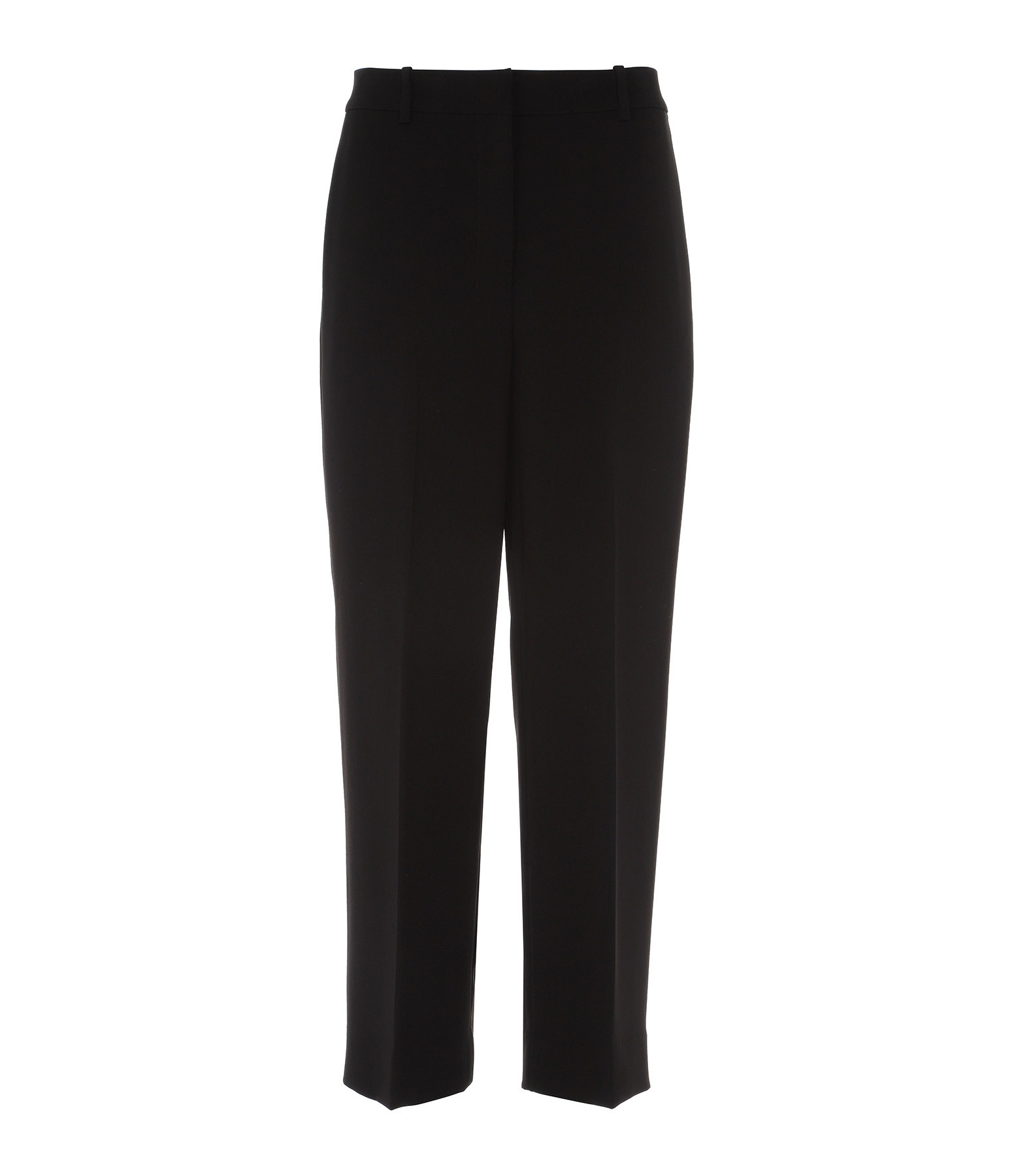 Haute Crèpe Noir Haute Noir Crèpe Pantalon Taille Taille Pantalon QrsCthd