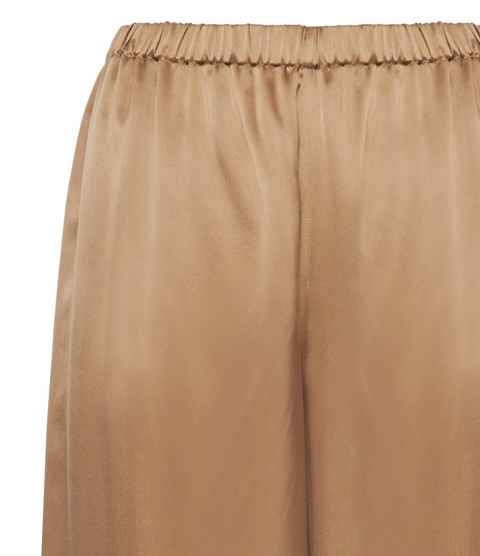 THEORY - Pantalon Fluide Soie Camel